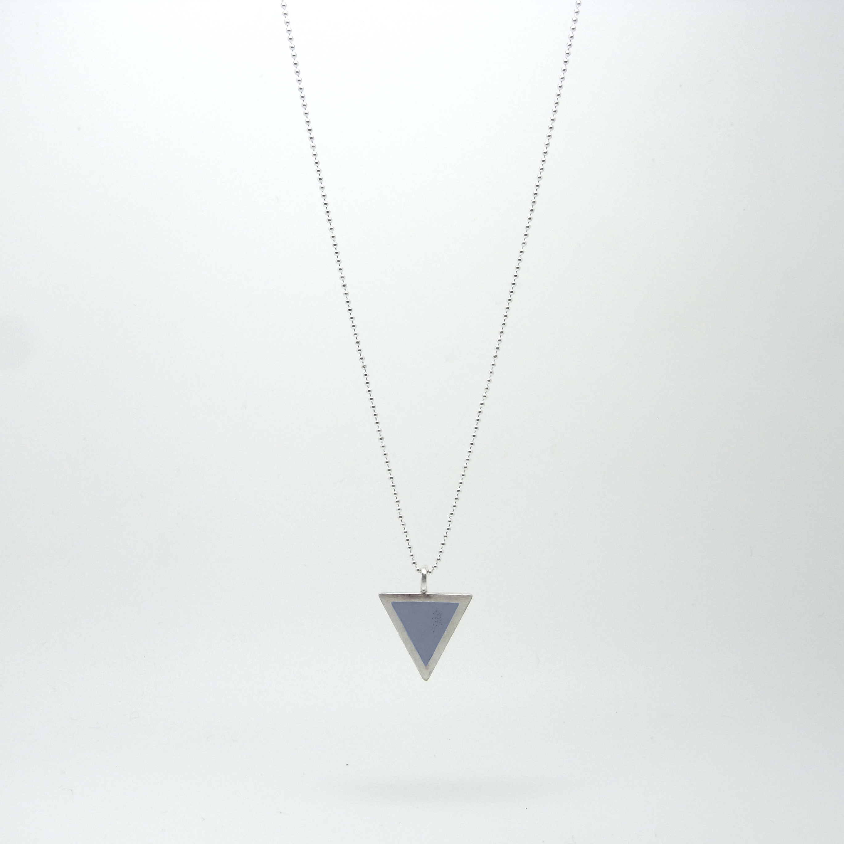 SALE - Triangle Necklace Slate Blue