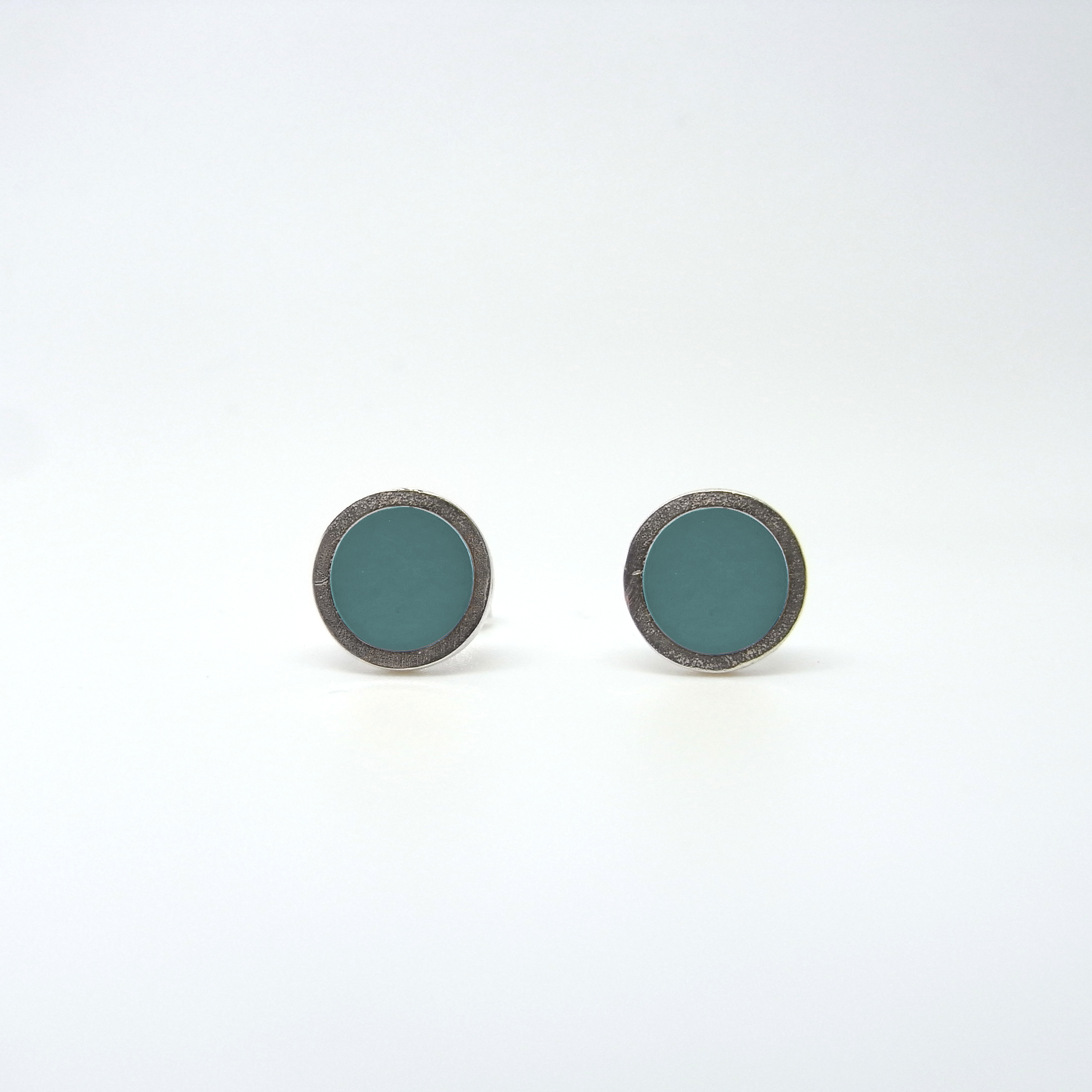 Small Coloured Dot Studs Aquamarine
