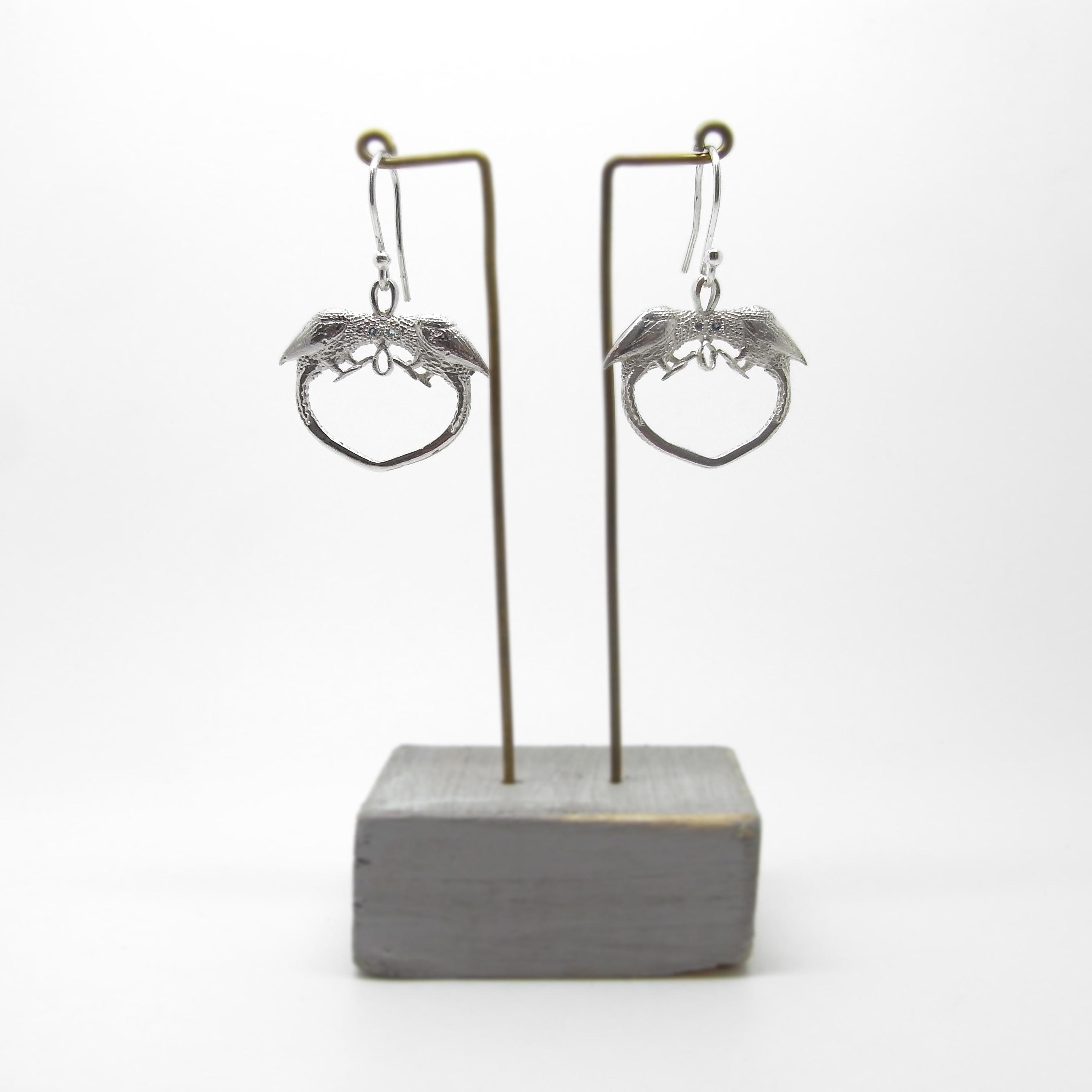 Love Bird Earrings - Sapphires