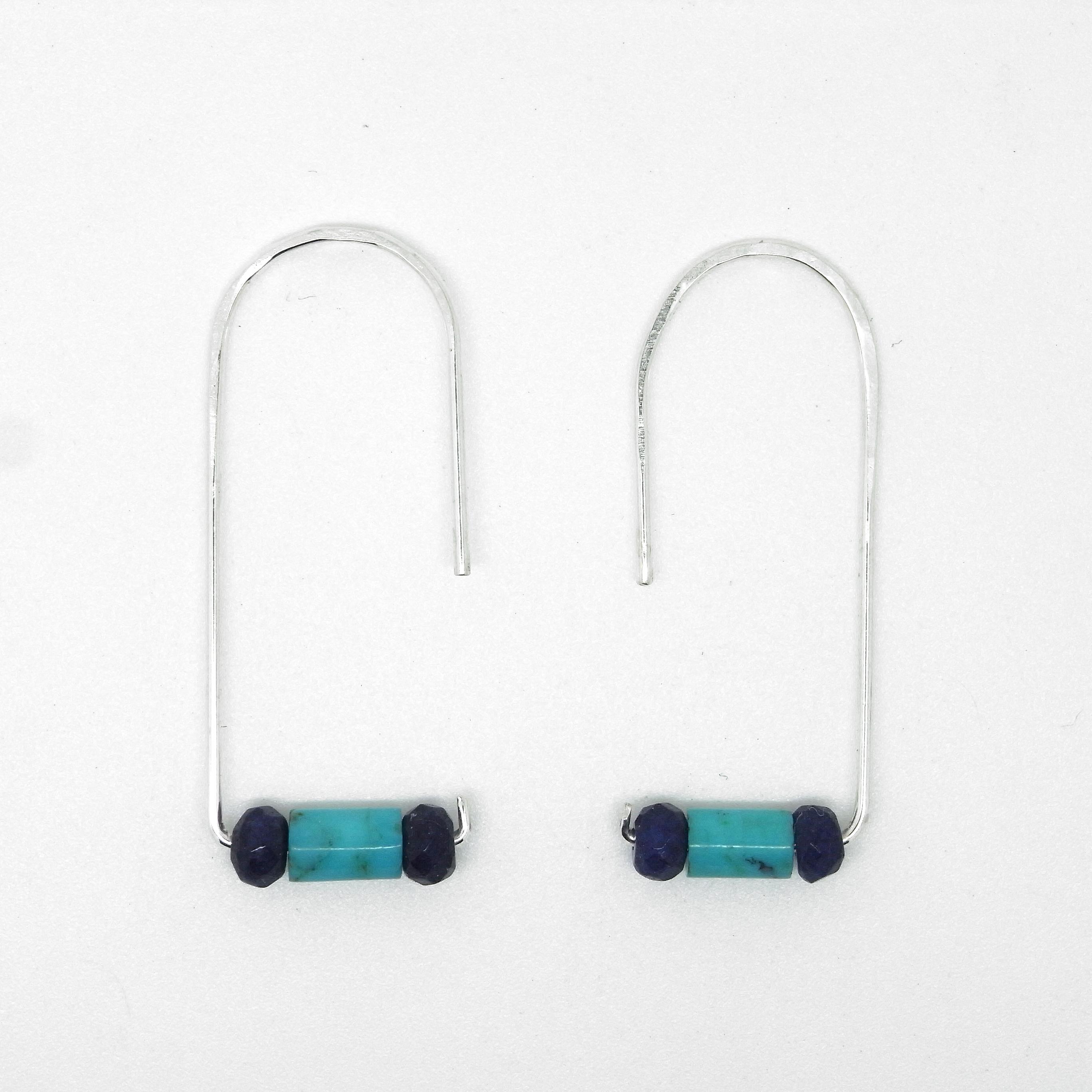 Semi Precious Earrings - Turquoise & Lapis