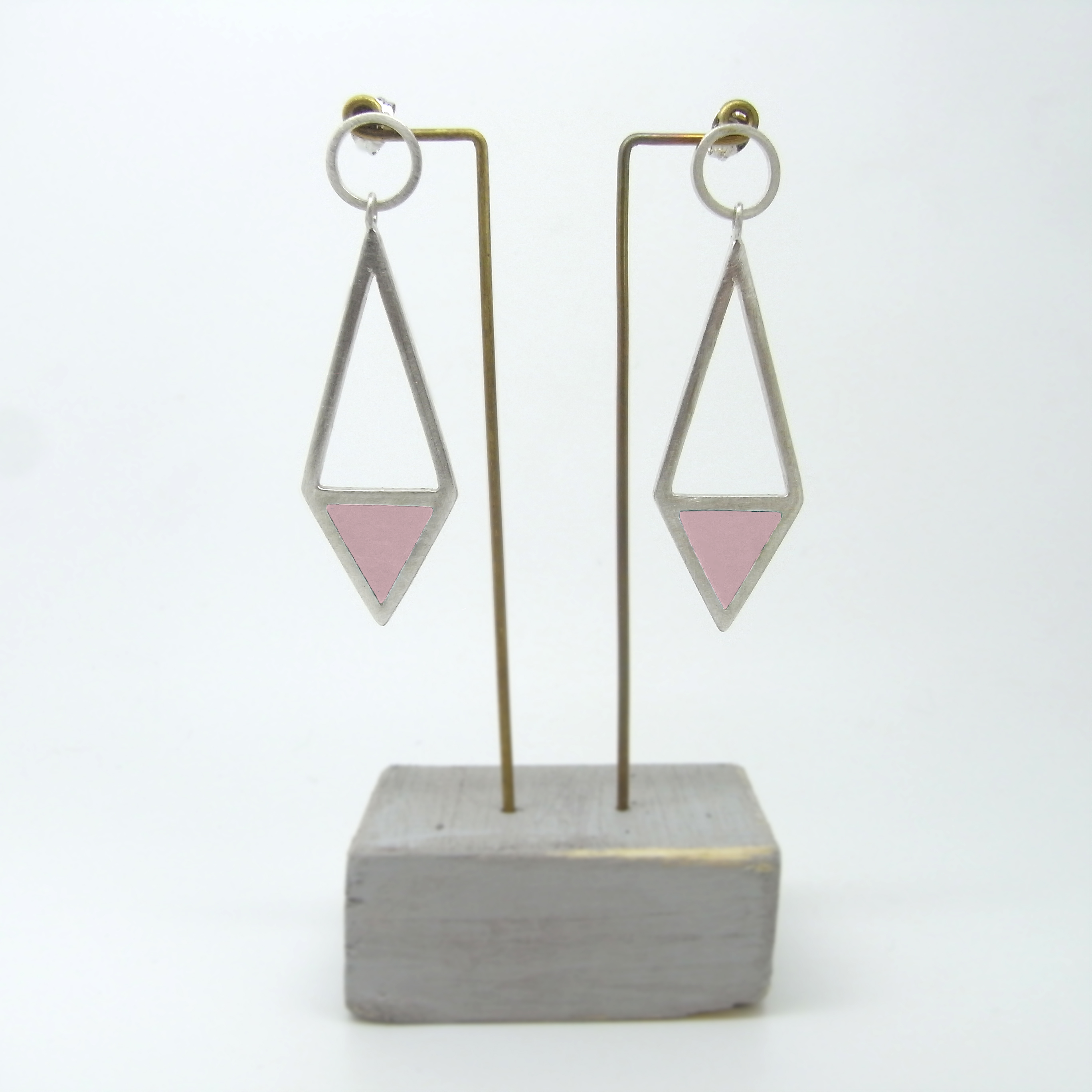 Diamond Shape Drop Earrings (made to order)