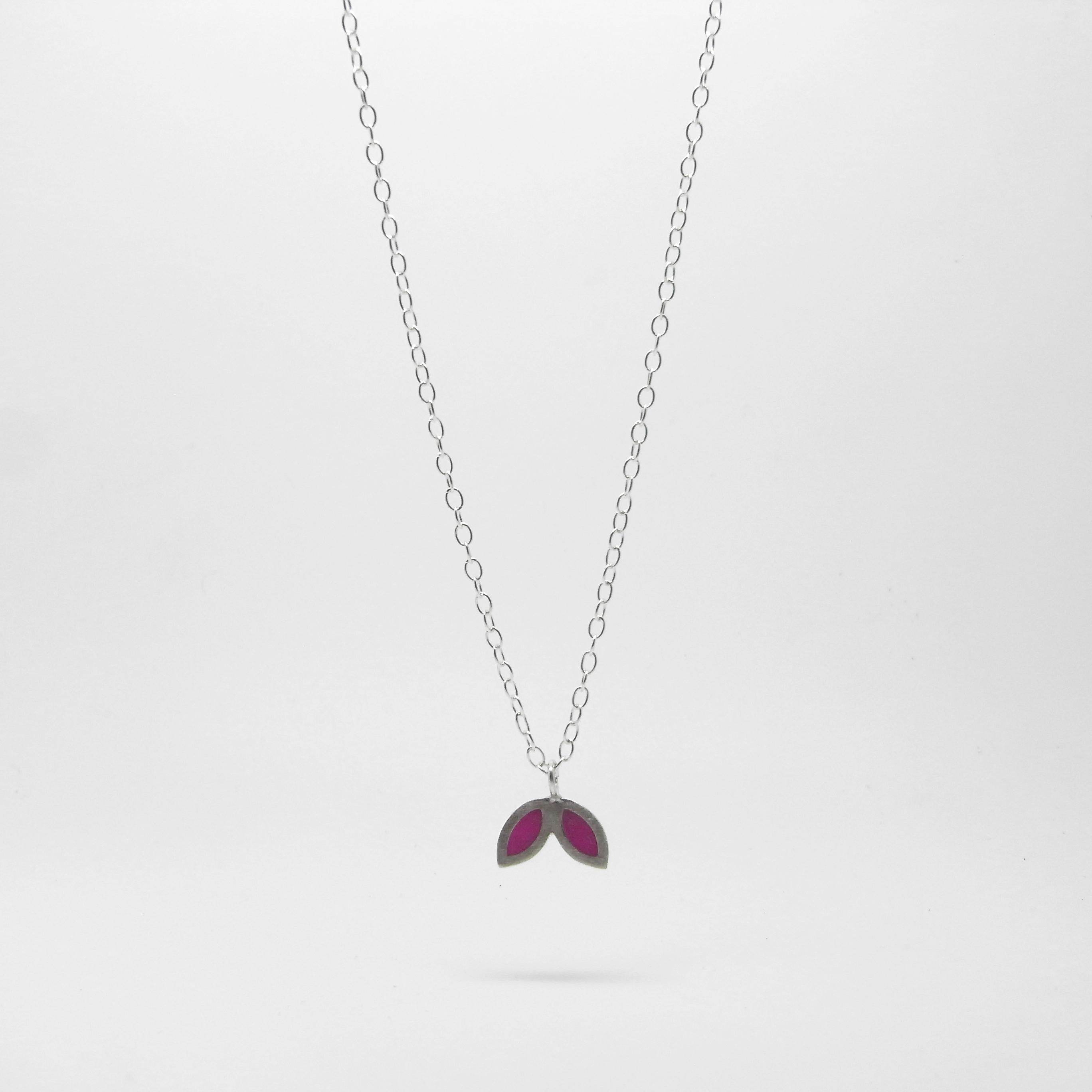 SALE - Small Petal Necklace Purple