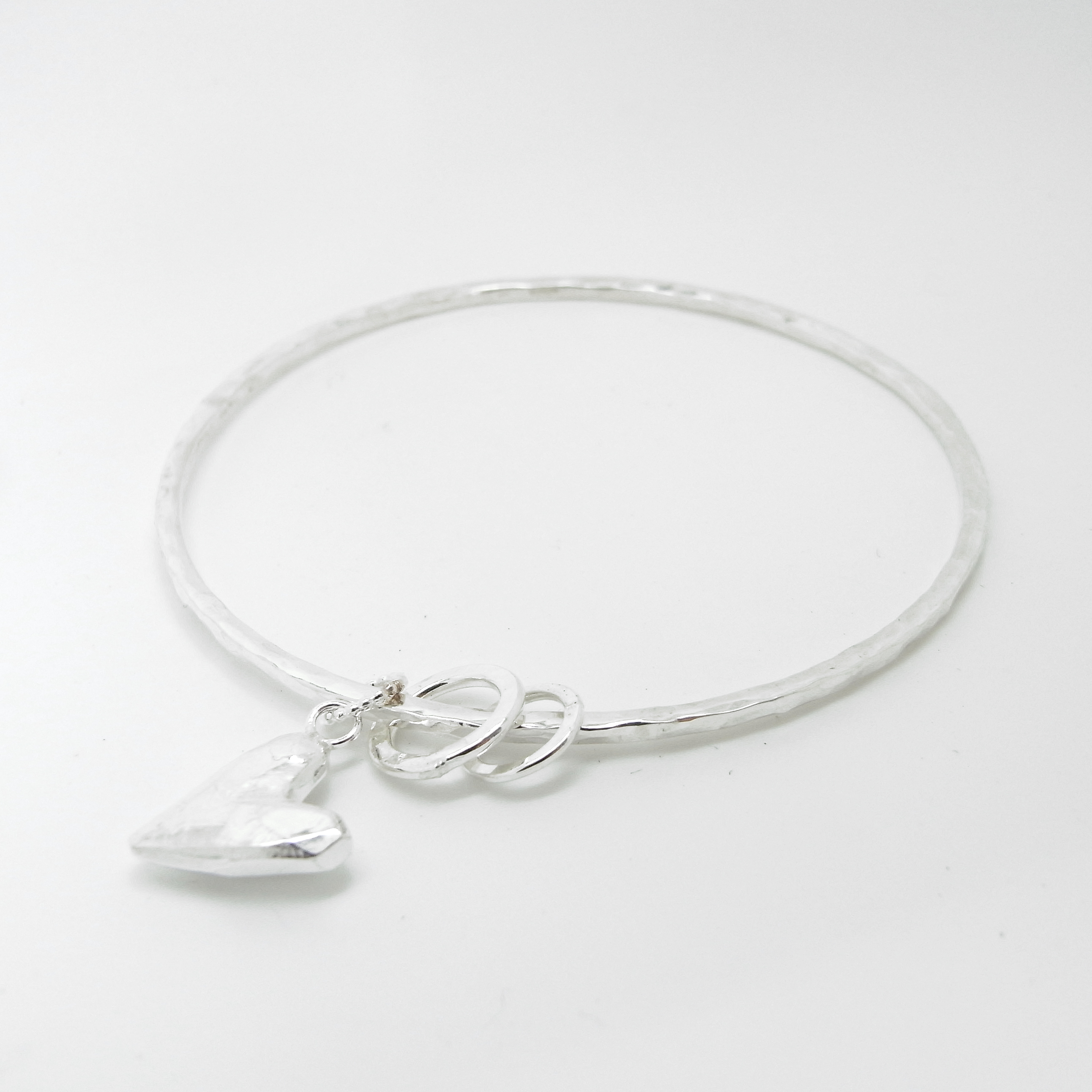 Bangle with Heart Charm (small)