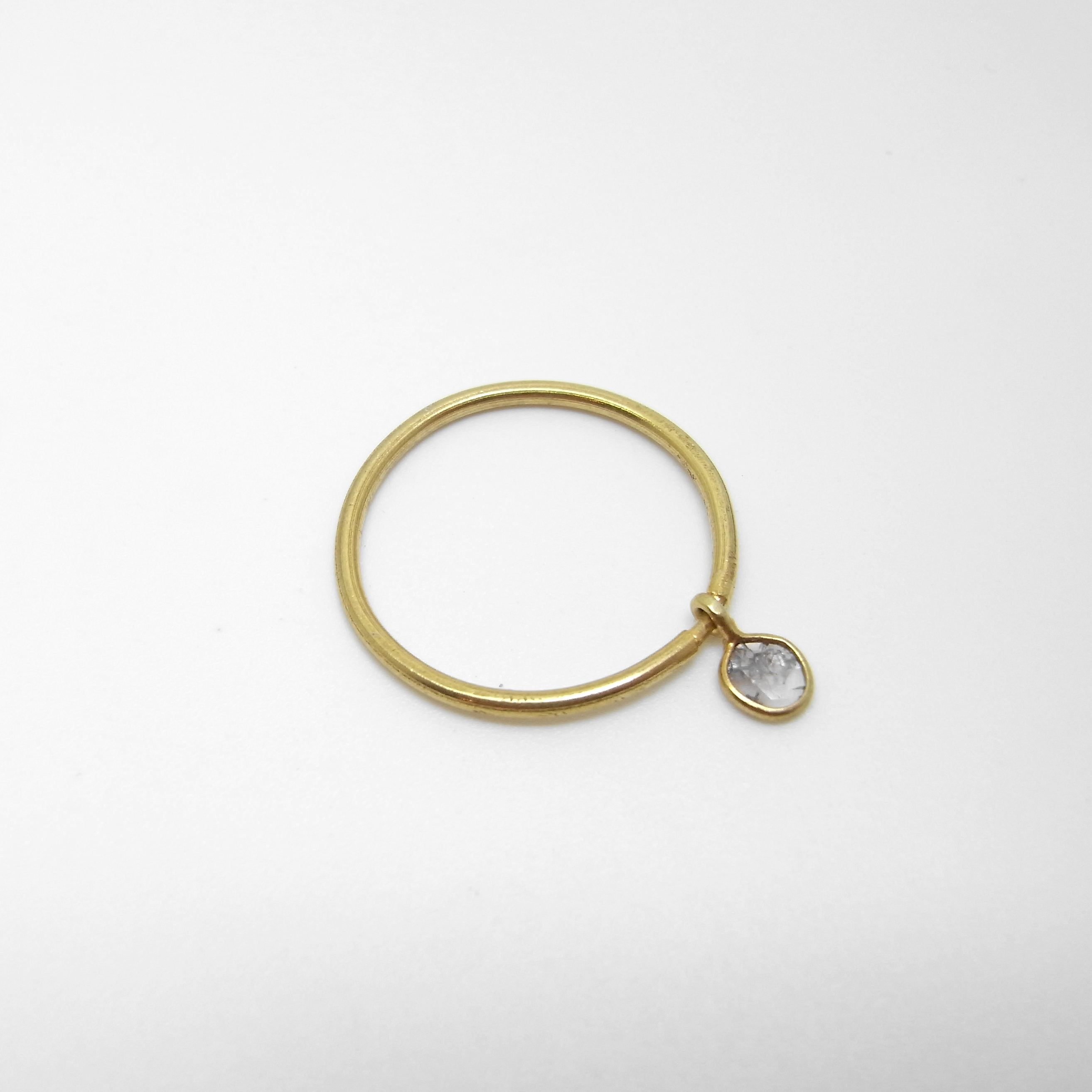 Ring with Diamond Charm