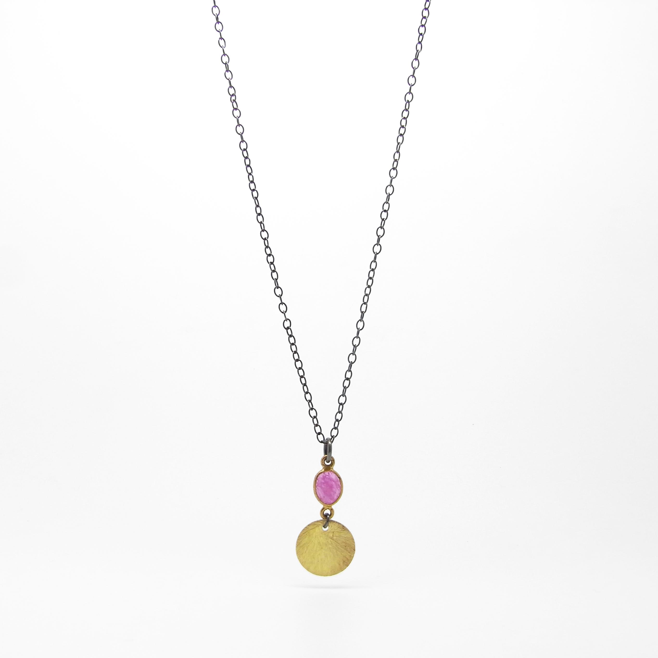 SALE - Long Pink Tourmaline Necklace