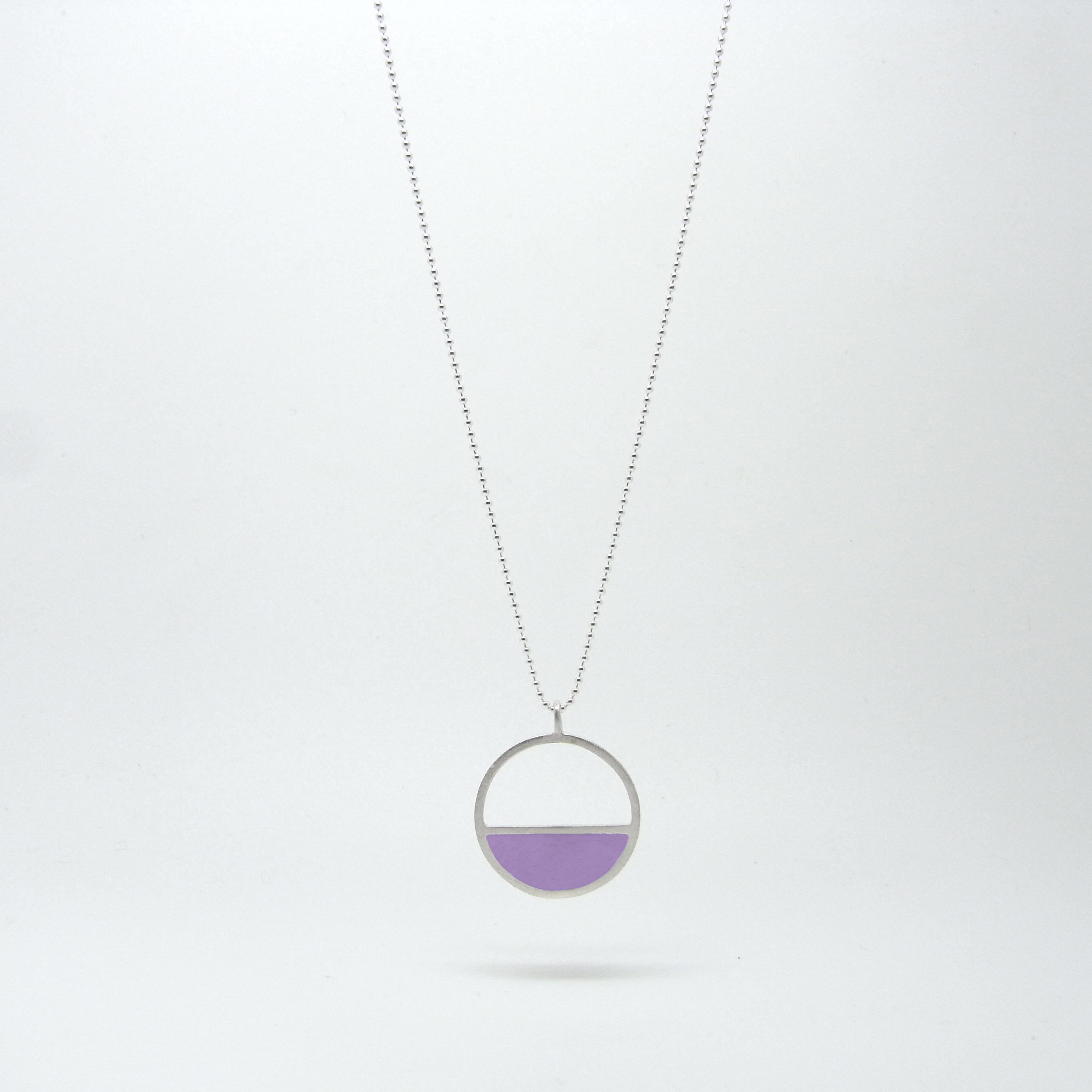 Semi Circle Necklace Iris