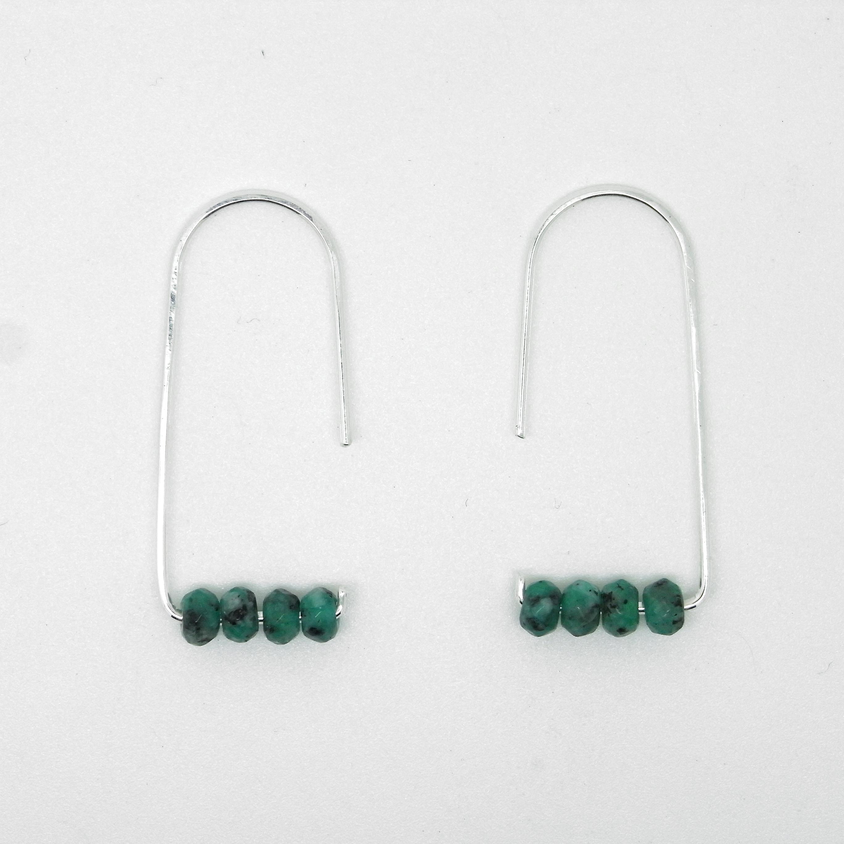 Semi Precious Earrings - Green