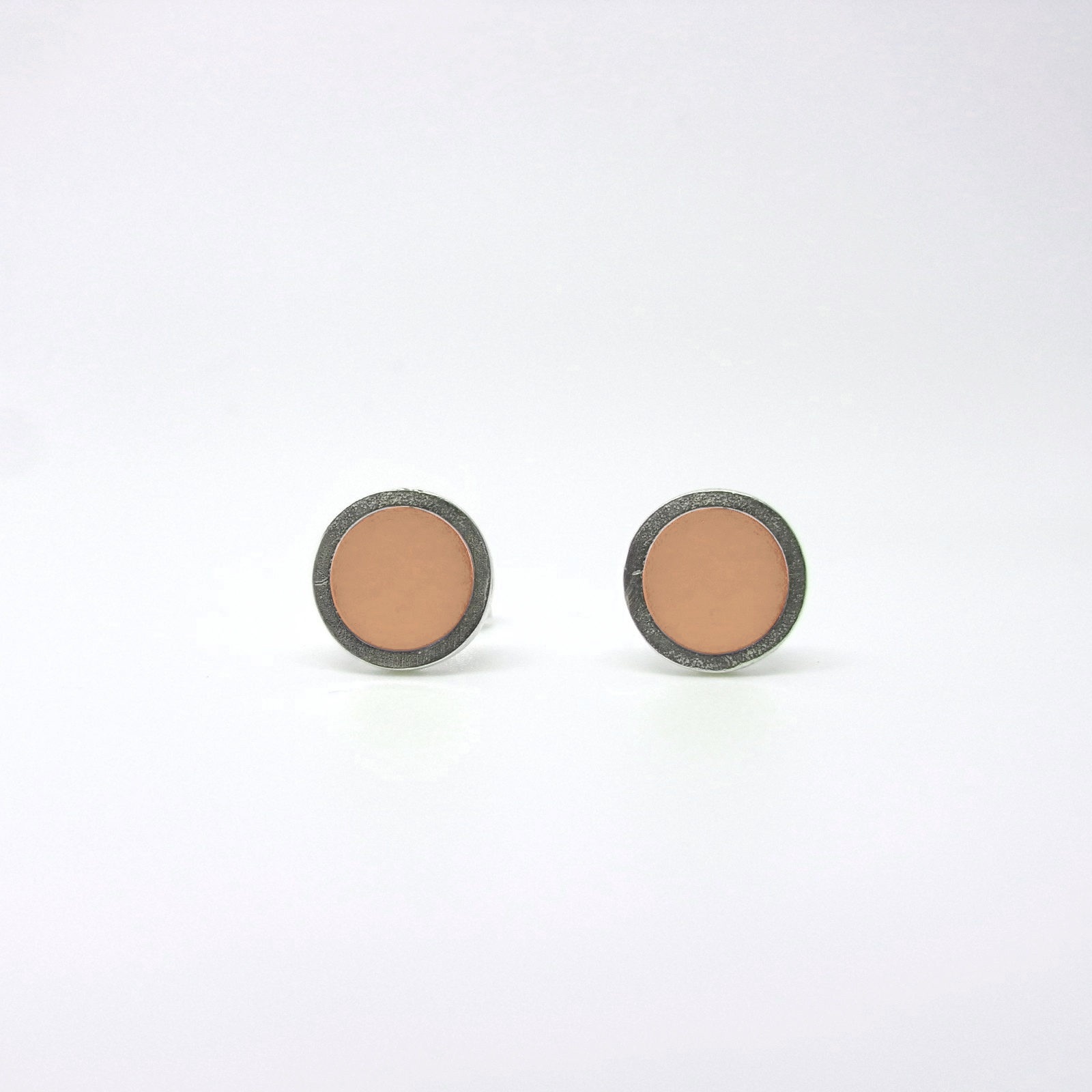 SALE - Small Coloured Dot Studs Nude Pink