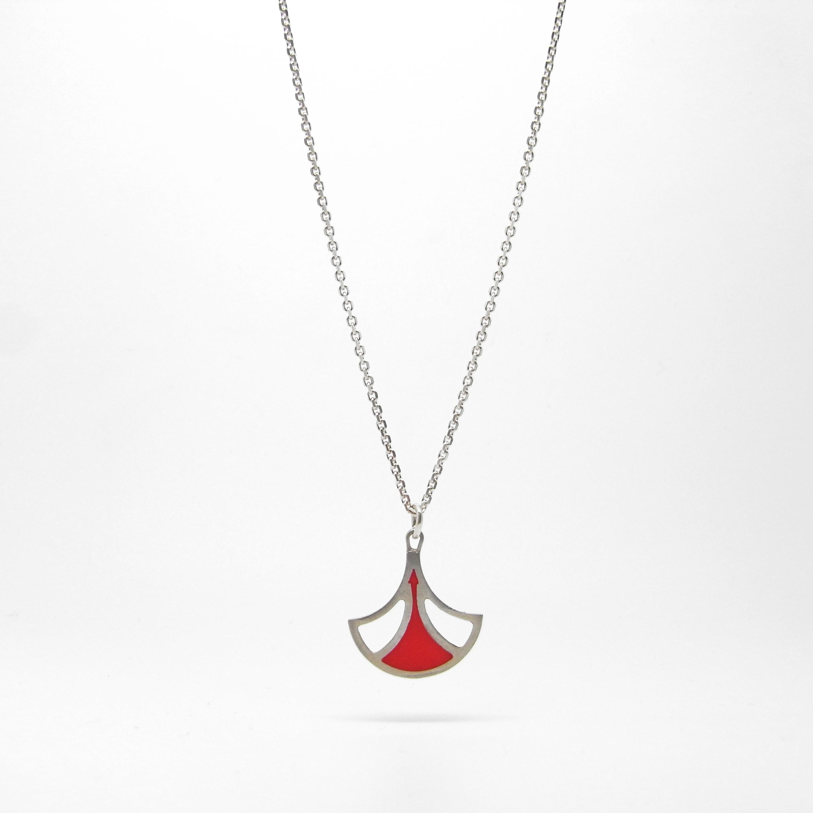 SALE - Red Fan Necklace
