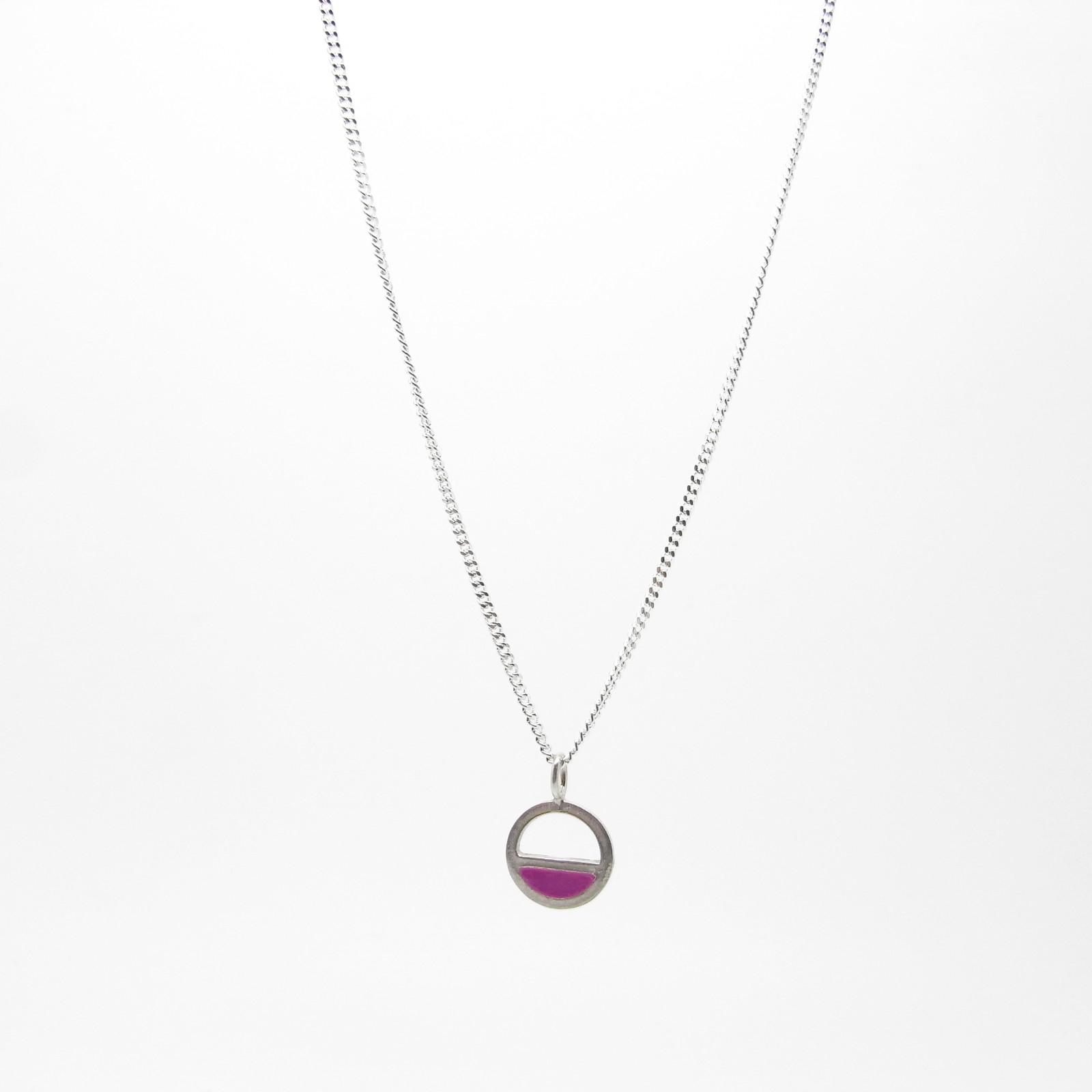 SALE - Small Semi Circle Necklace Purple