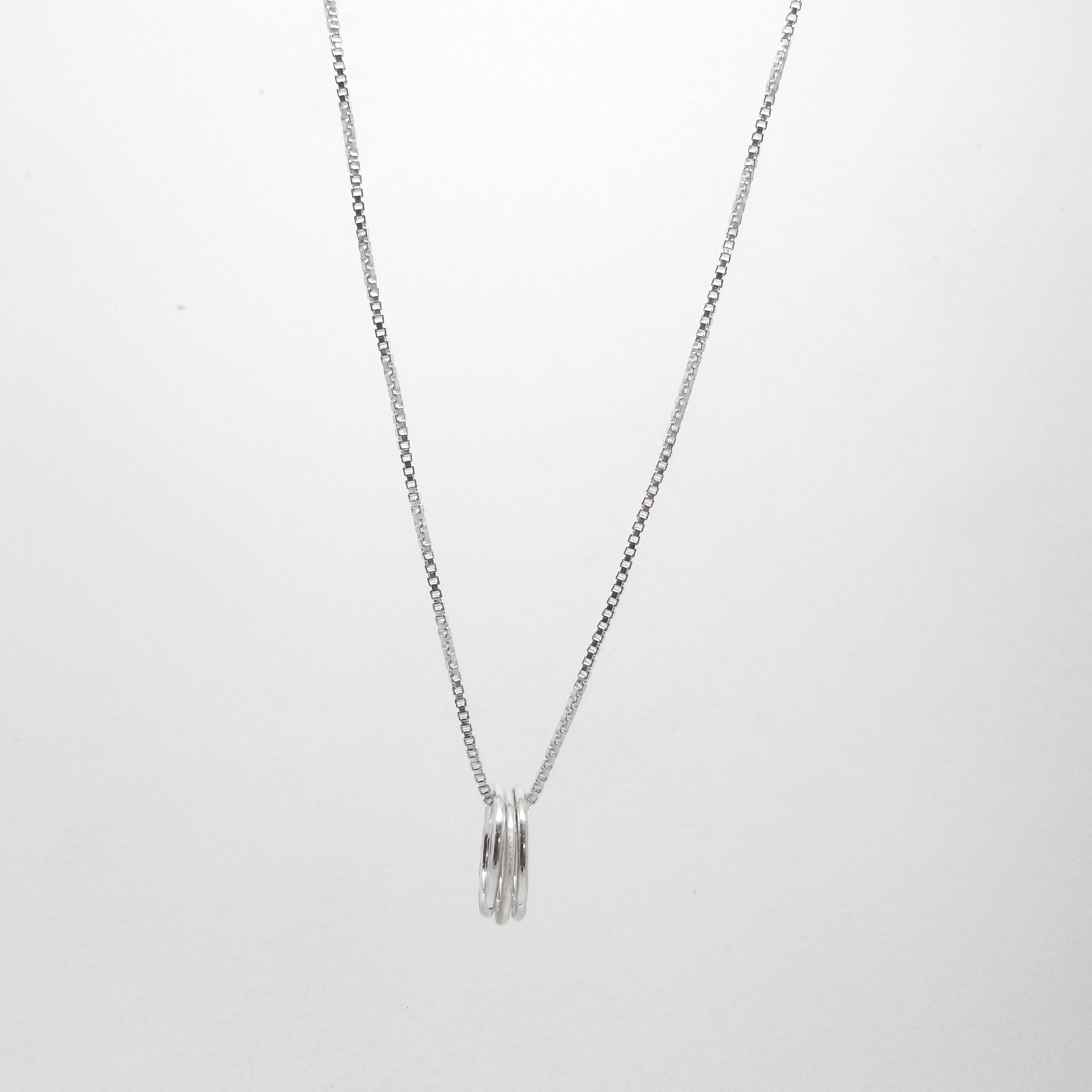 SALE - Triple Ring Necklace