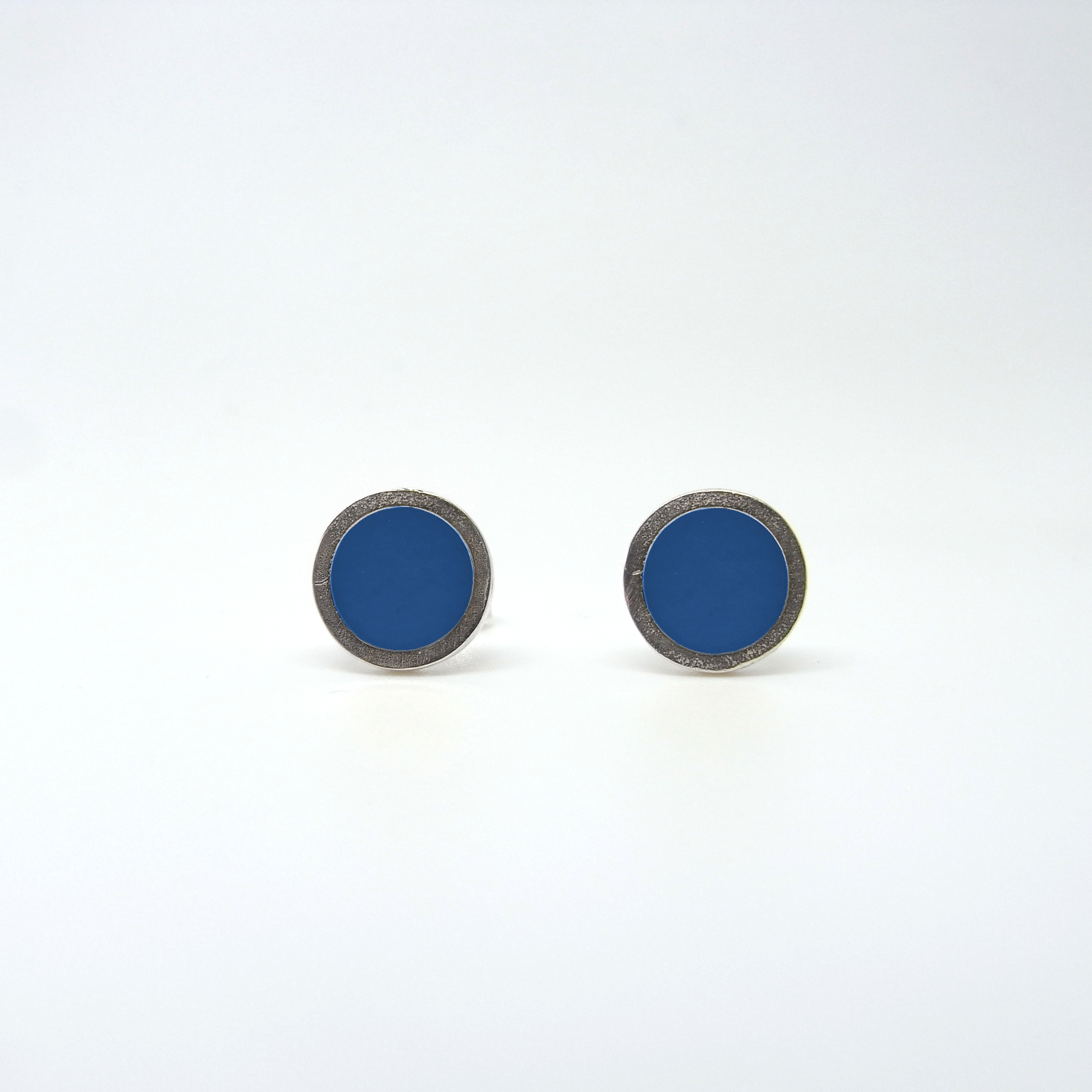 Small Coloured Dot Studs Bright Blue