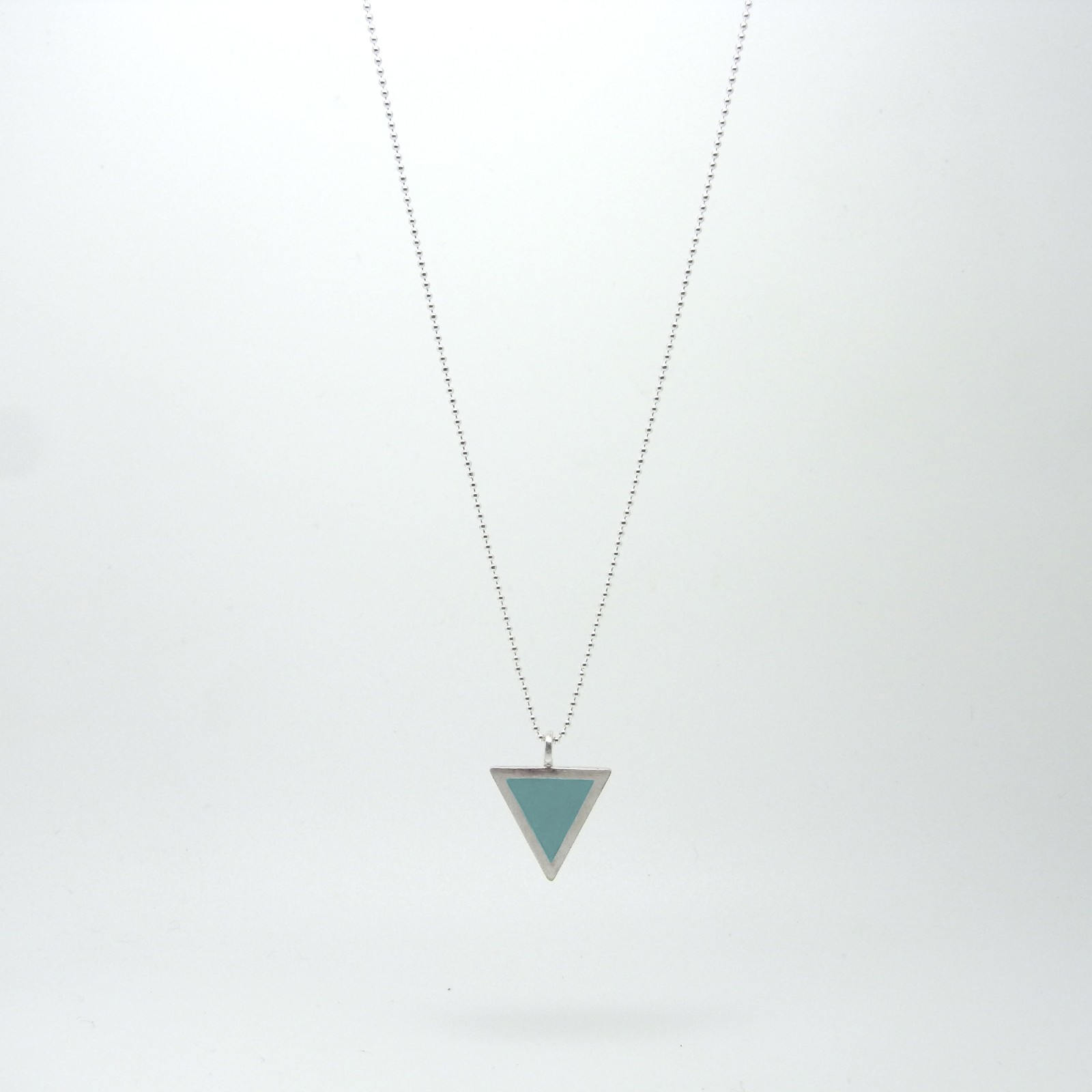 Triangle Necklace Ocean Aquamarine