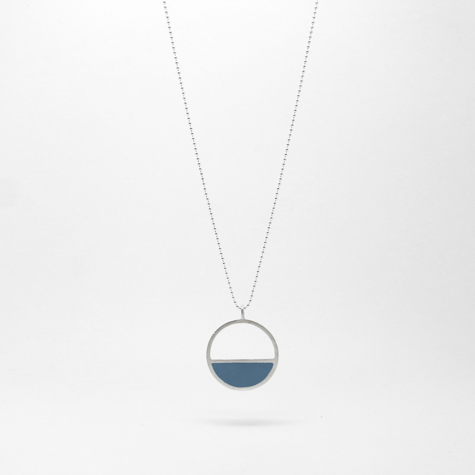 Semi Circle Necklace Ocean Blue