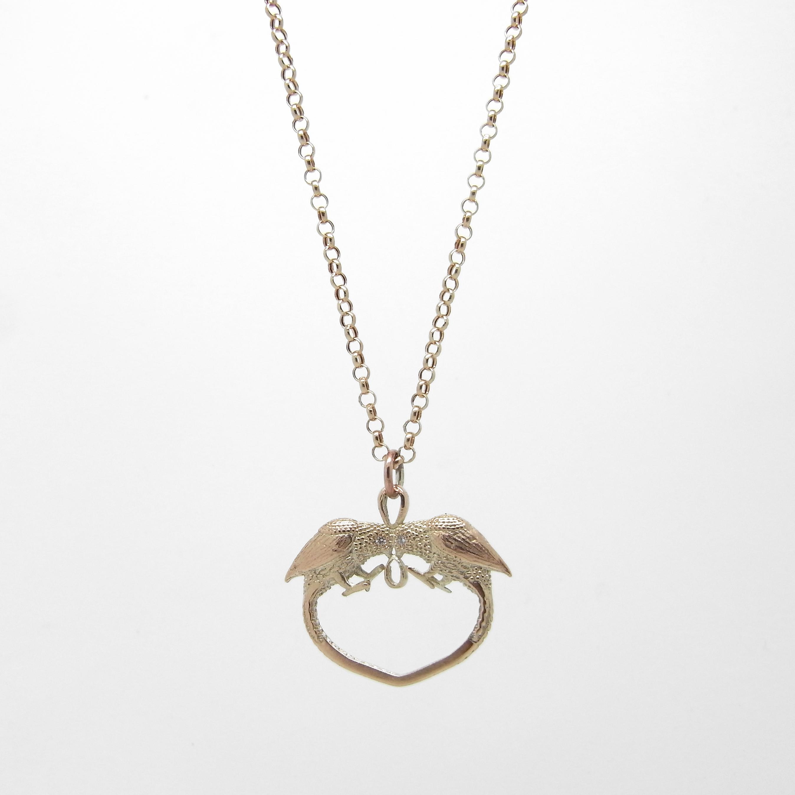 Love Bird Necklace - Rose Gold / Diamonds