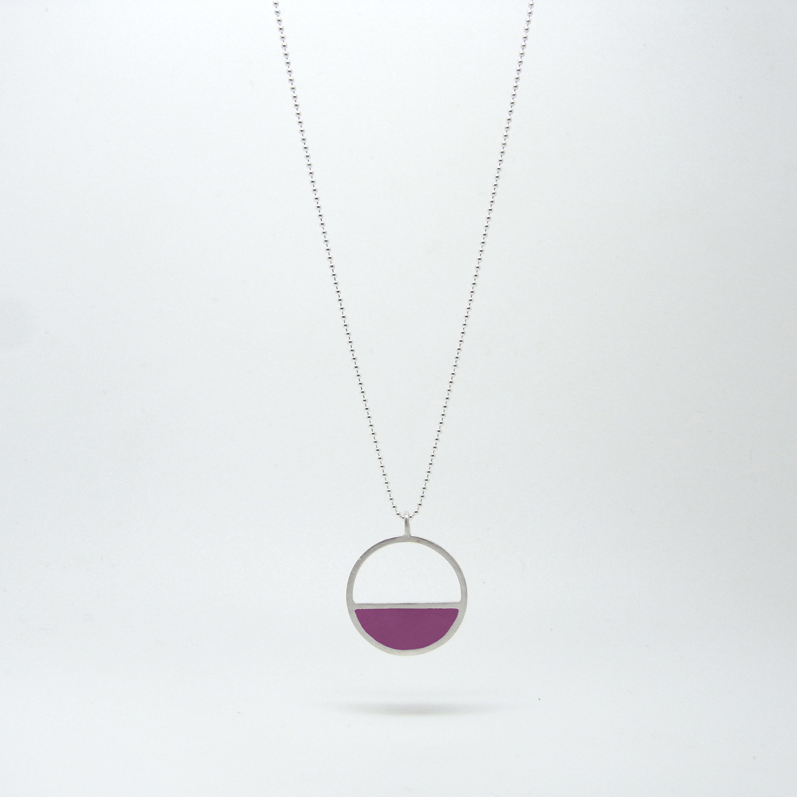 SALE - Semi Circle Necklace Lollipop