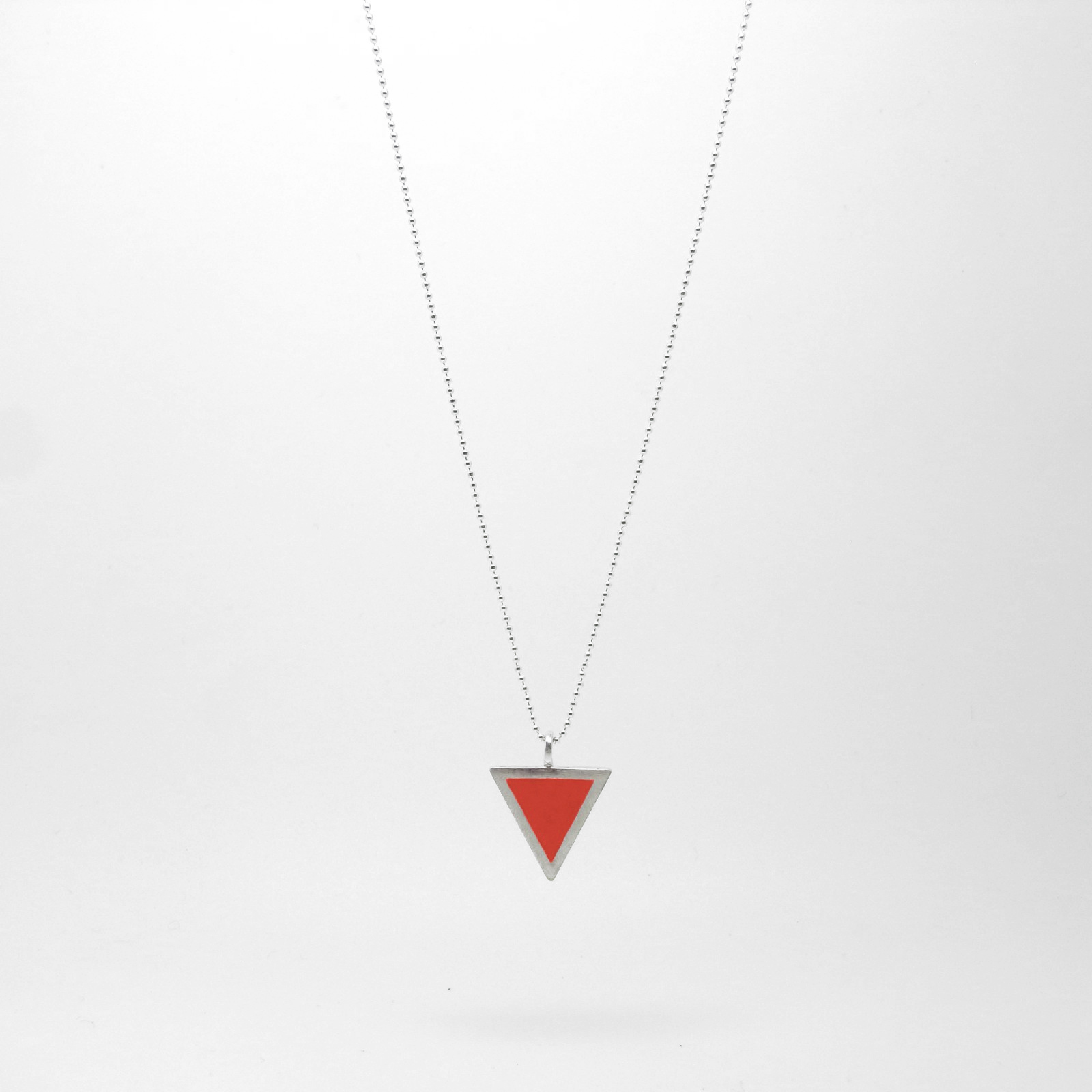 Triangle Necklace Pure Red
