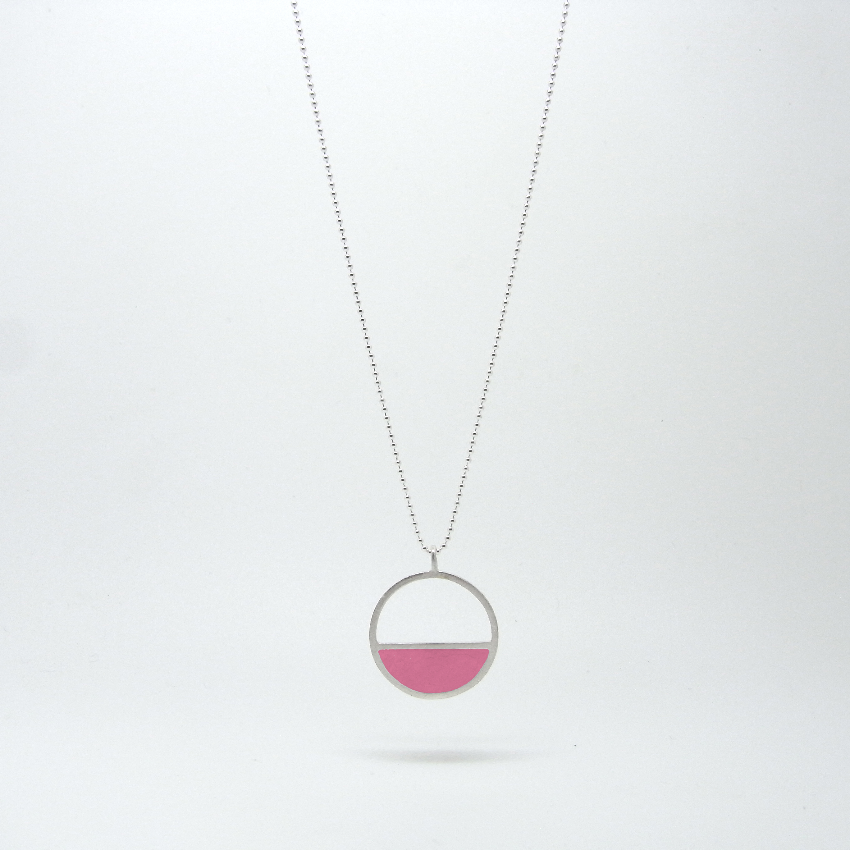 SALE - Semi Circle Necklace Pink