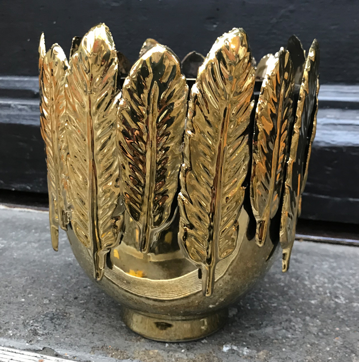 Pot feather gold
