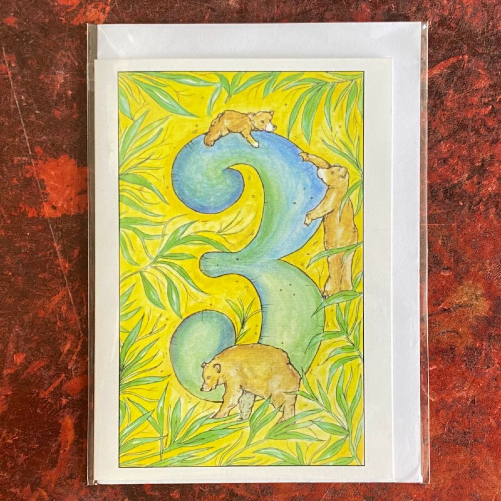 'Age 3' Claire Eatwell Designs Card