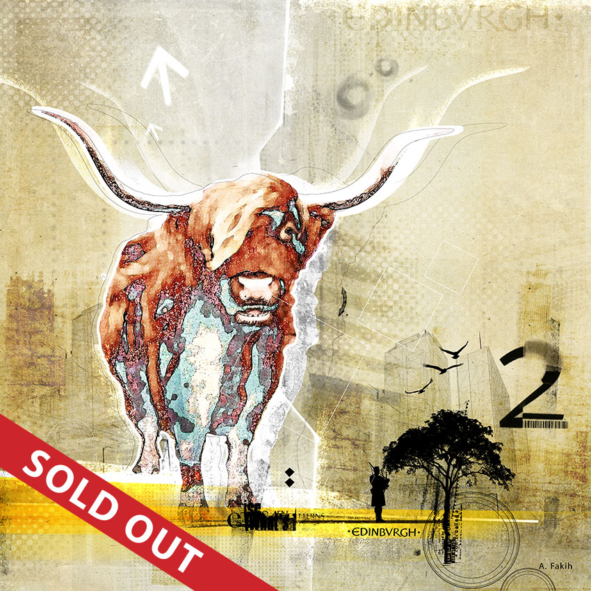 COW ON THE GRID (SOLD OUT)