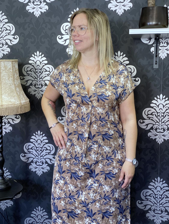 Rosemunde klänning, nougat leaf
