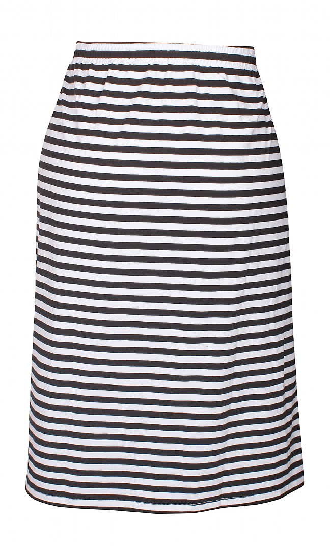 Randig kjol, svart/vit