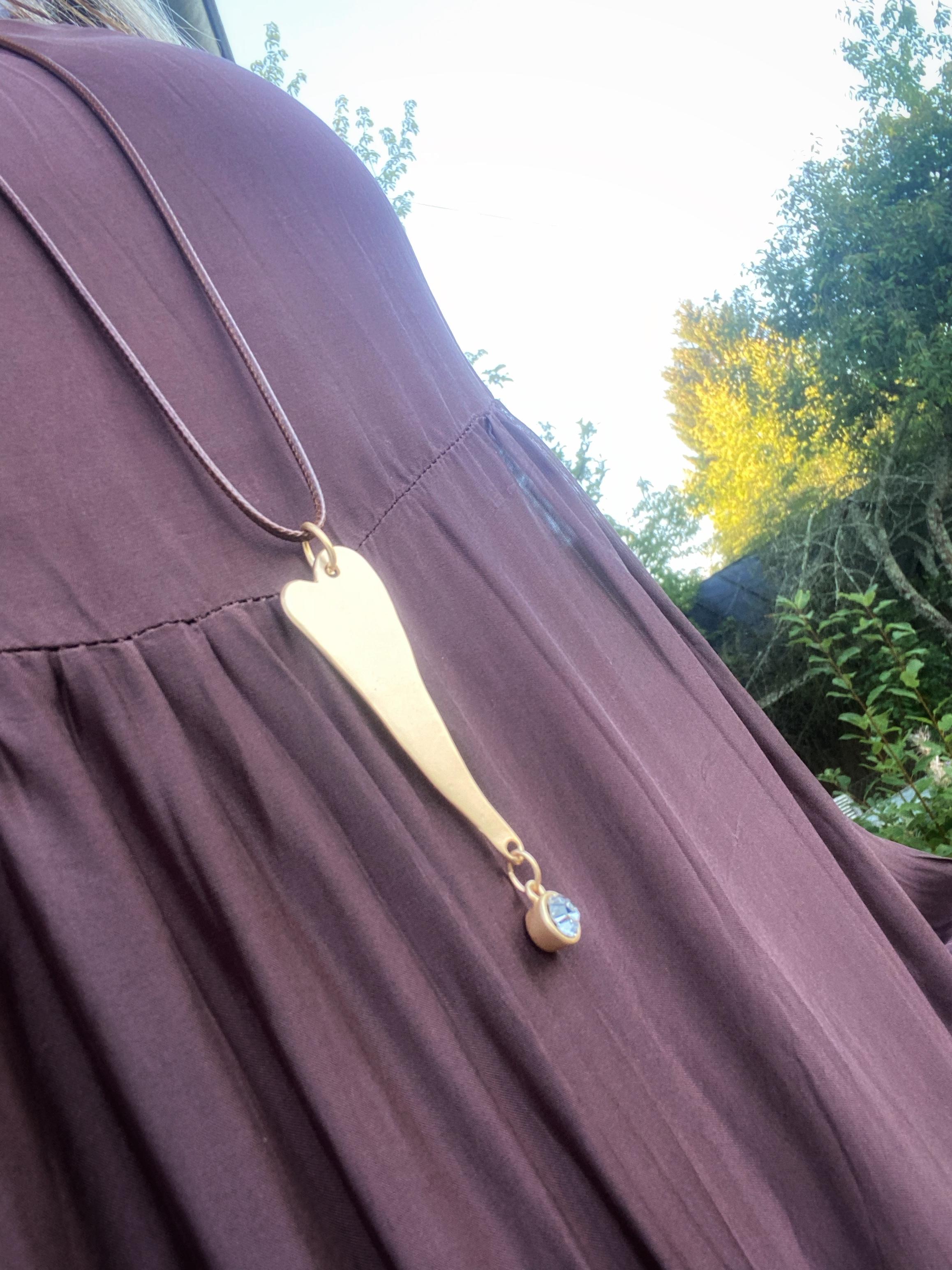Halsband med hjärta, guld