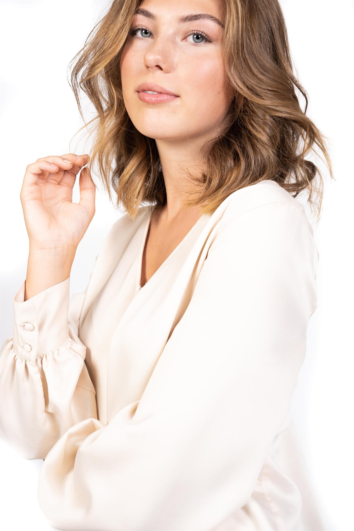 Madeleine blouse, Champagne