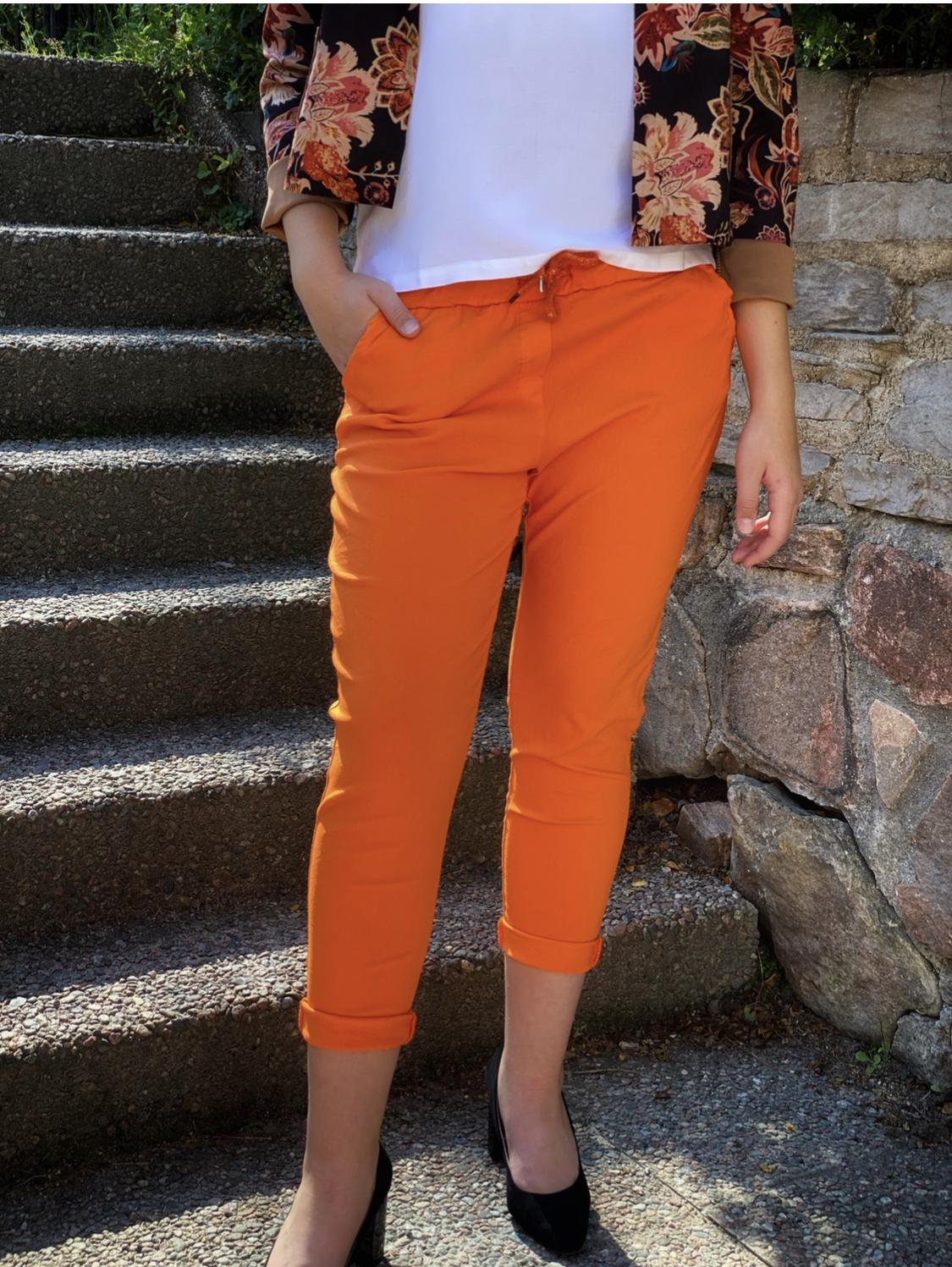 SIGNE Byxa med stretch - orange