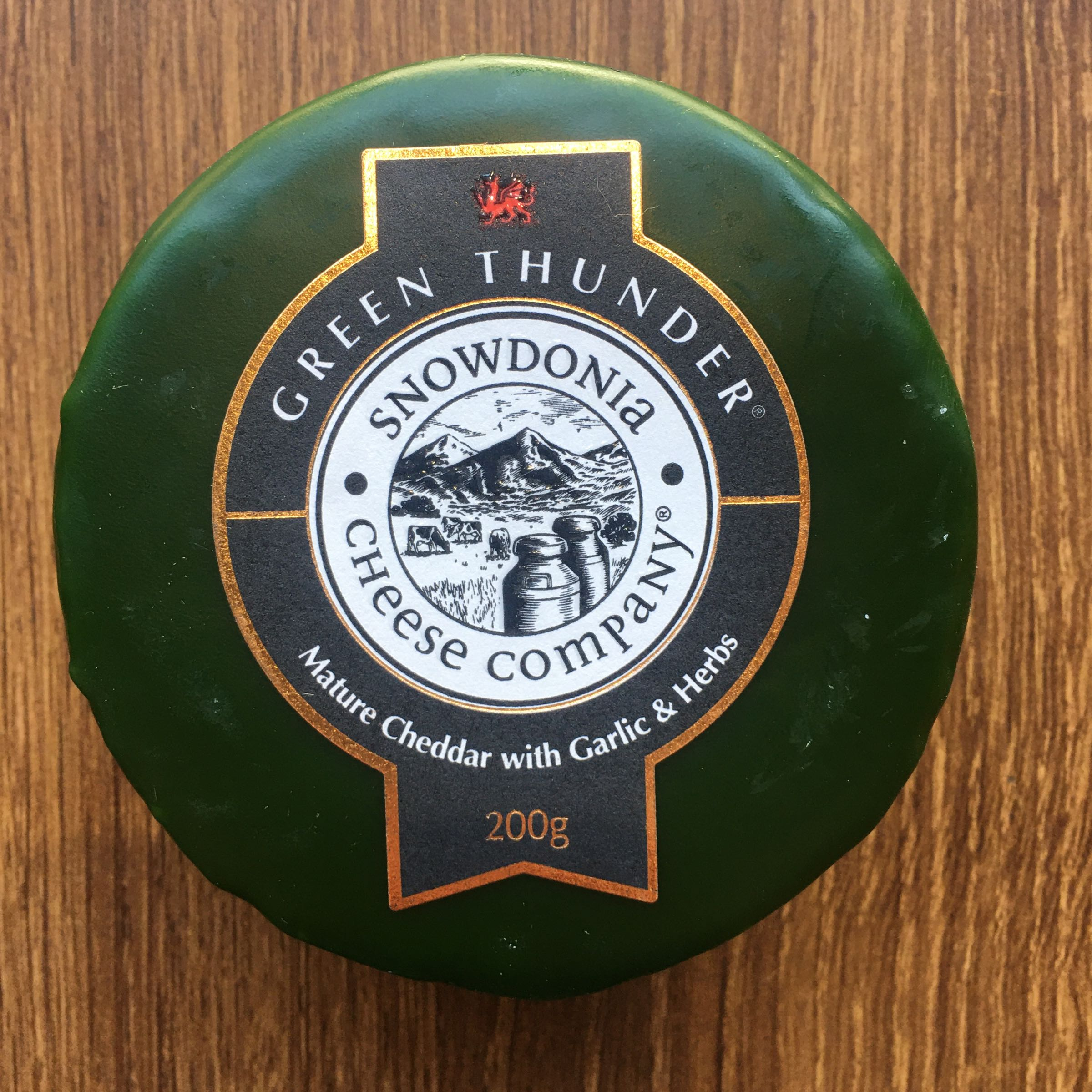 Green Thunder Snowdonia Waxed Cheese