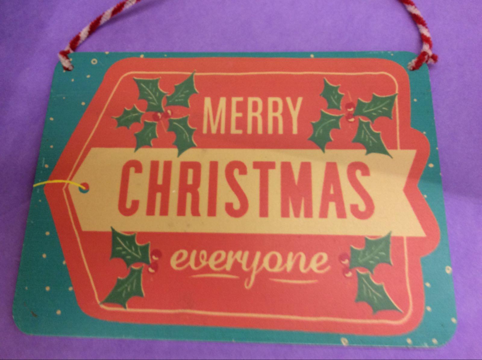 Christmas Gift Tag Sign
