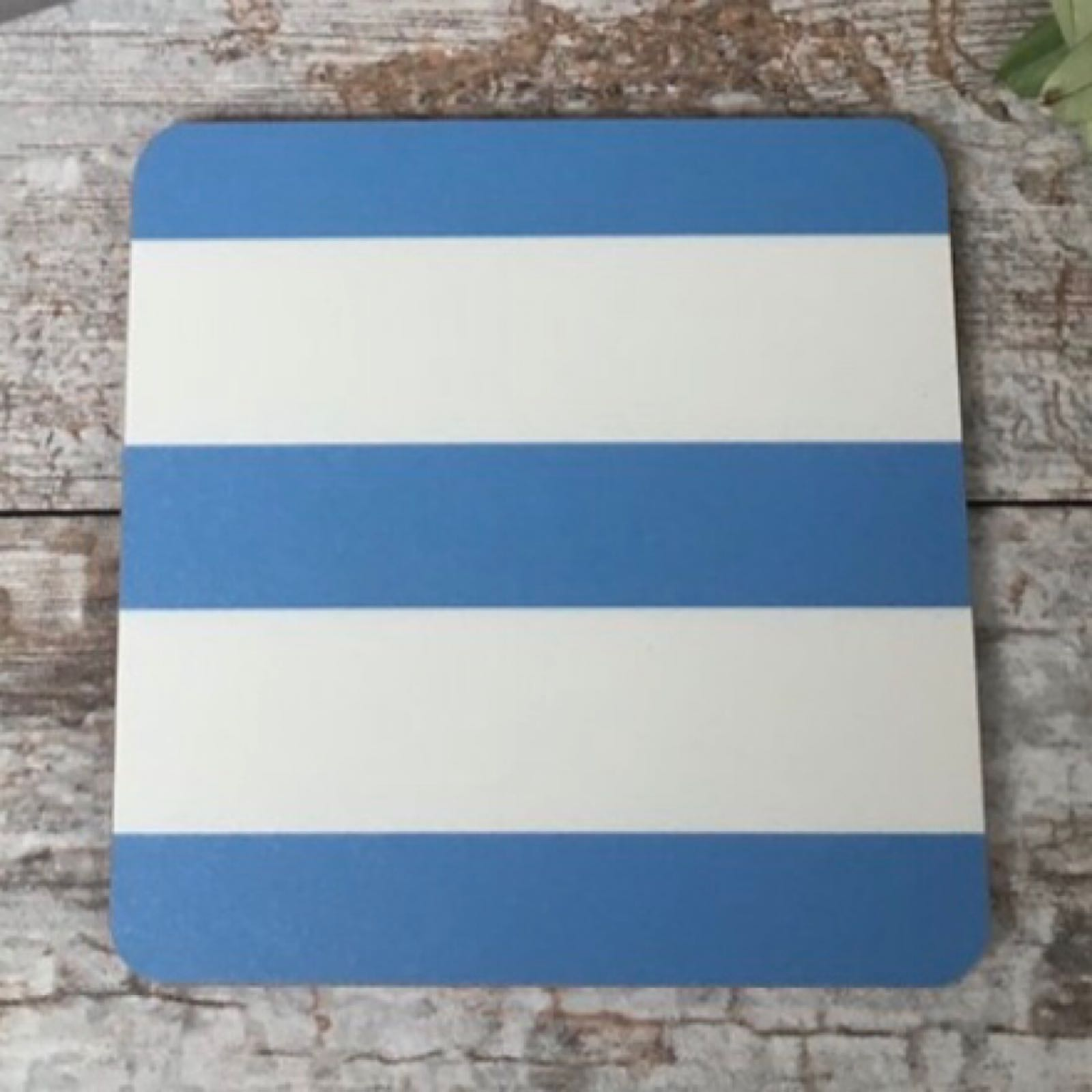 'Blue Stripe' Corniche Coaster