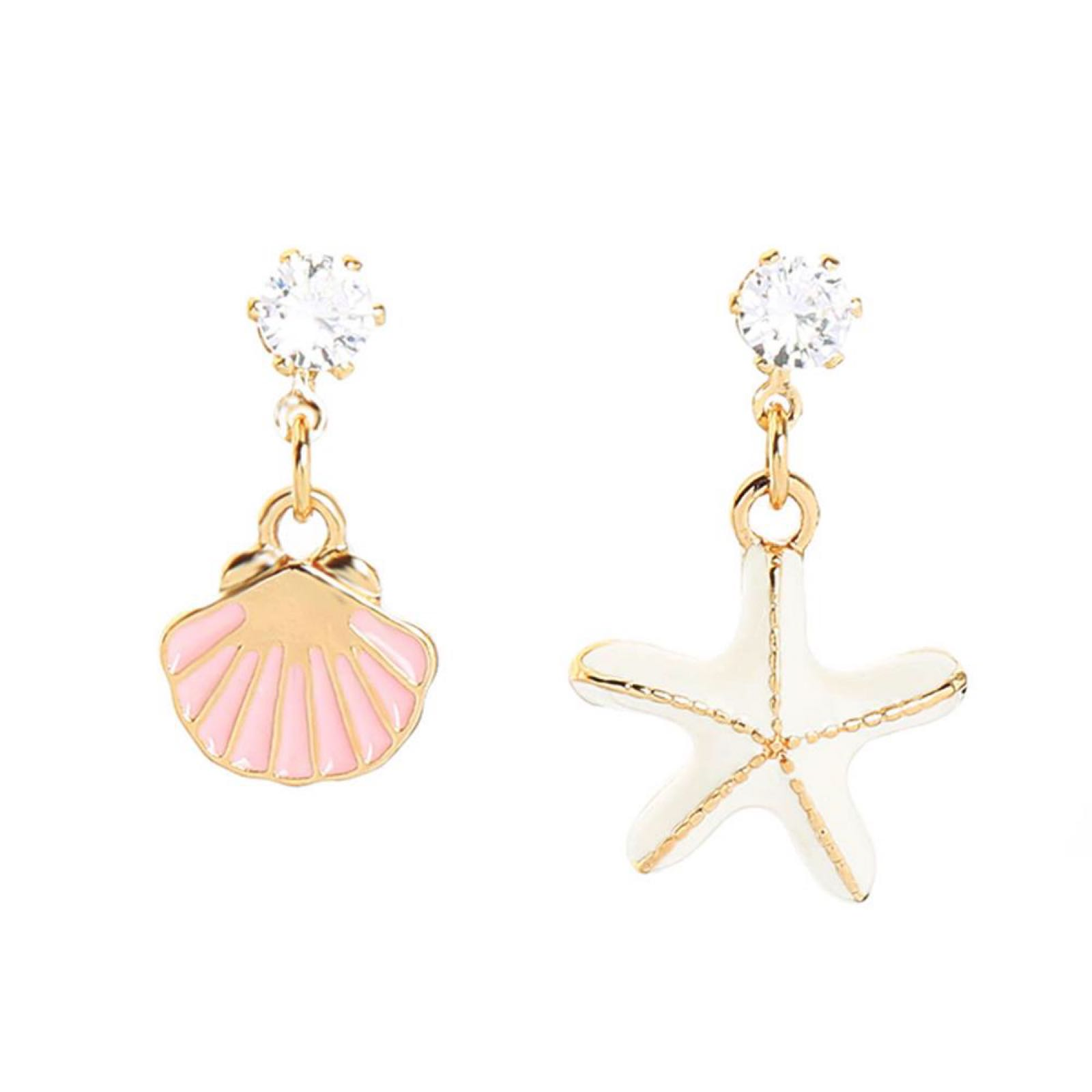 Last true angel starfish and shell earrings LE548W