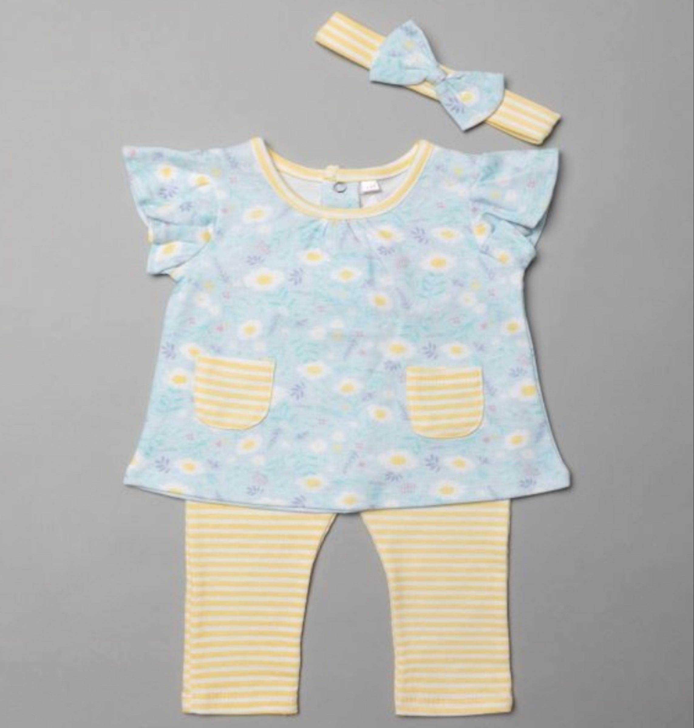 Spring Daisy leggings and top set