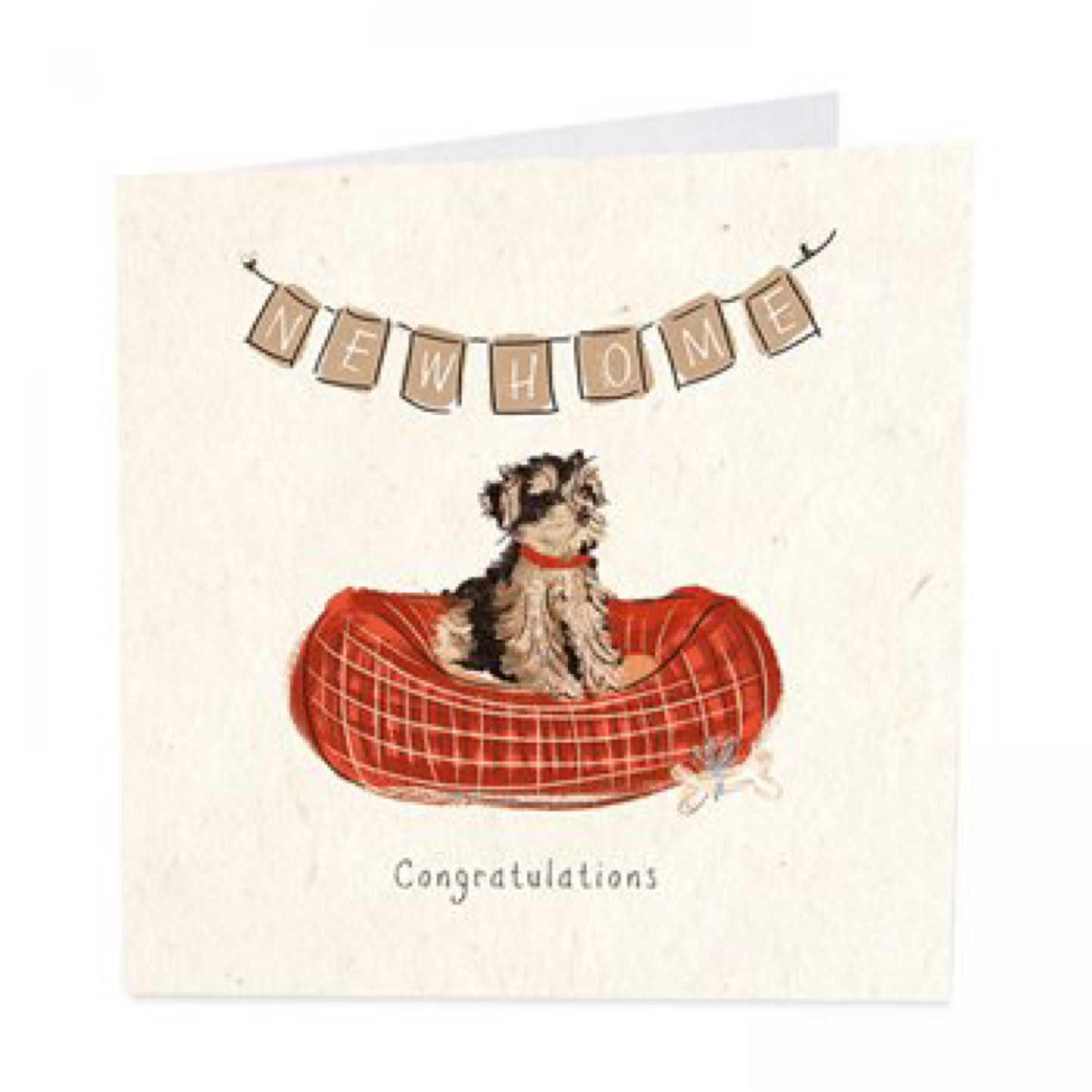 New home -congratulations card (dog)