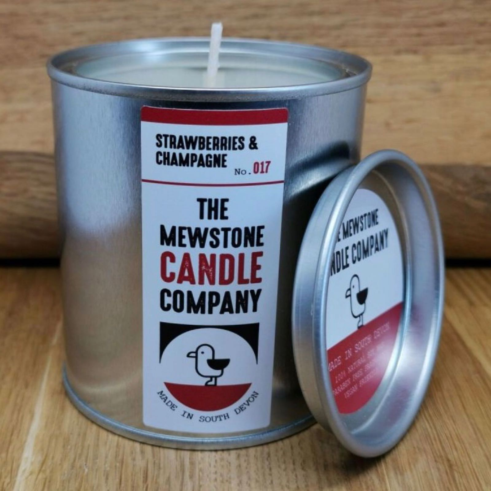 'Strawberries & Champagne' Mewstone Paint Tin Candle (Was £12.50)