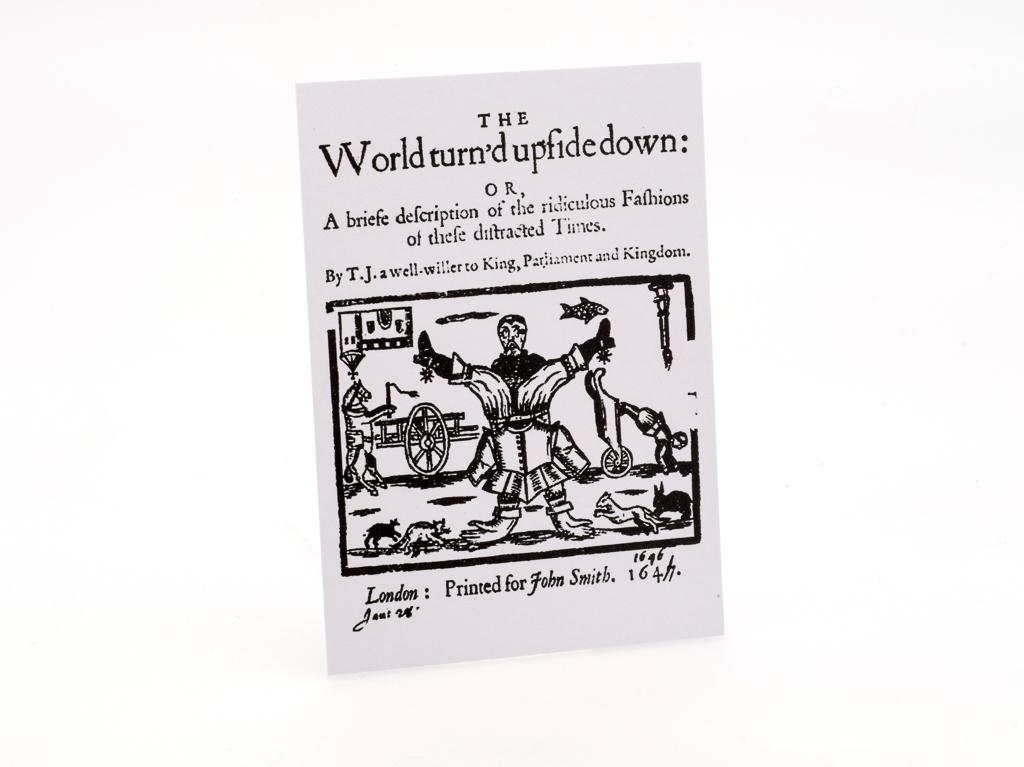 Postcard: World Turned Upside Down (SKU: ST-PC-011)