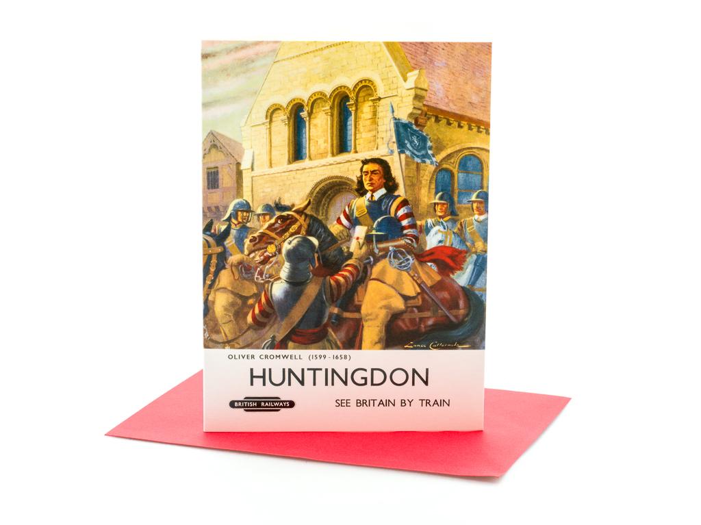 Greetings Card: Huntingdon Railway Poster (SKU: ST-GC-003)