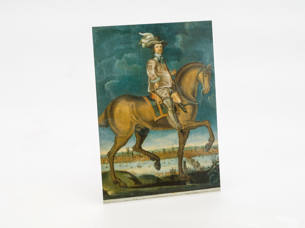 Postcard: Cromwell on Horseback (SKU: ST-PC-003)