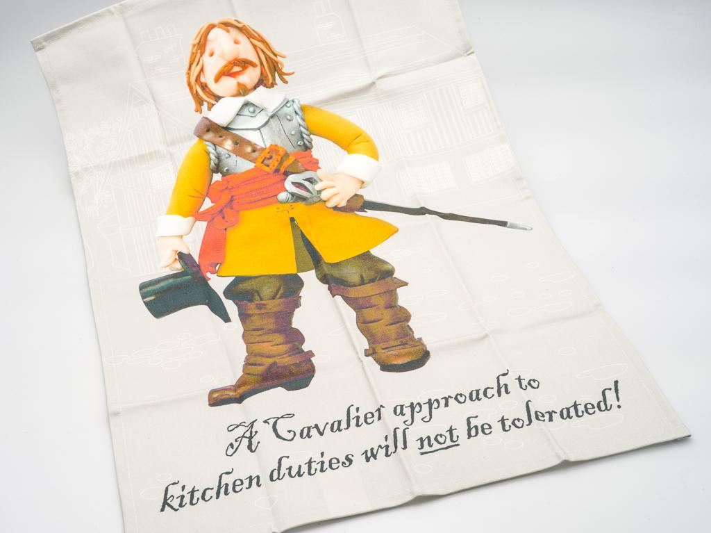 Tea Towel: Cartoon Cromwell (SKU: TX-TT-001)