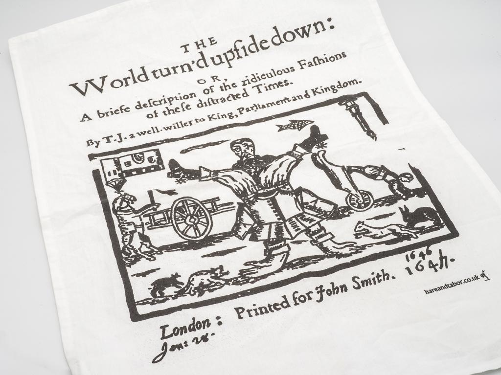 Tea Towel: World Turned Upside Down (SKU: TX-TT-003)