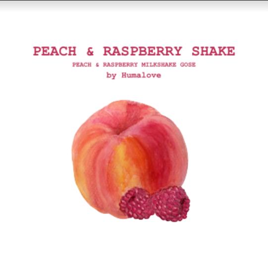 Humalove / Peach & Raspberry Shake / 5,2% / 0,33 Tölkki