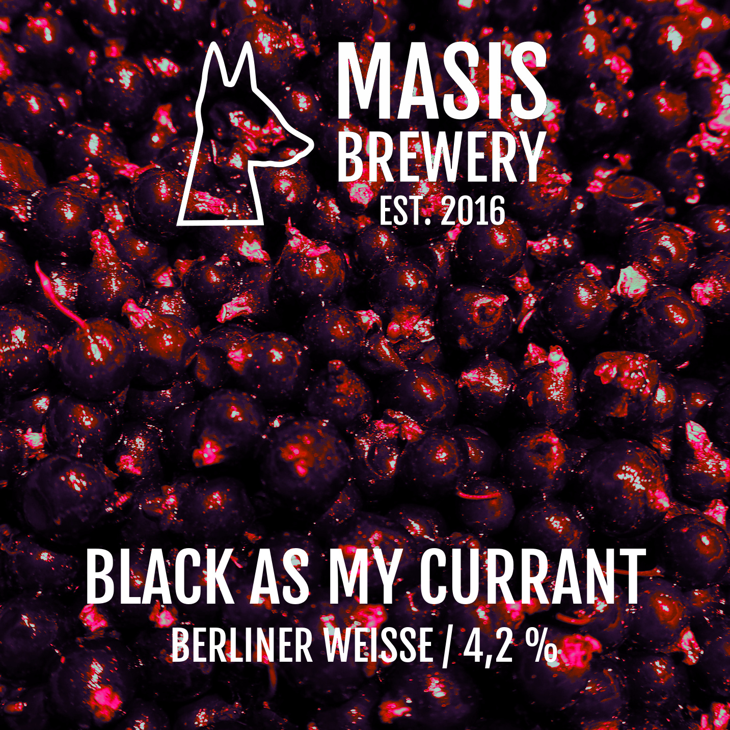 Masis Brewery / Black As My Currant  / 4,2% / 0,33 Pullo