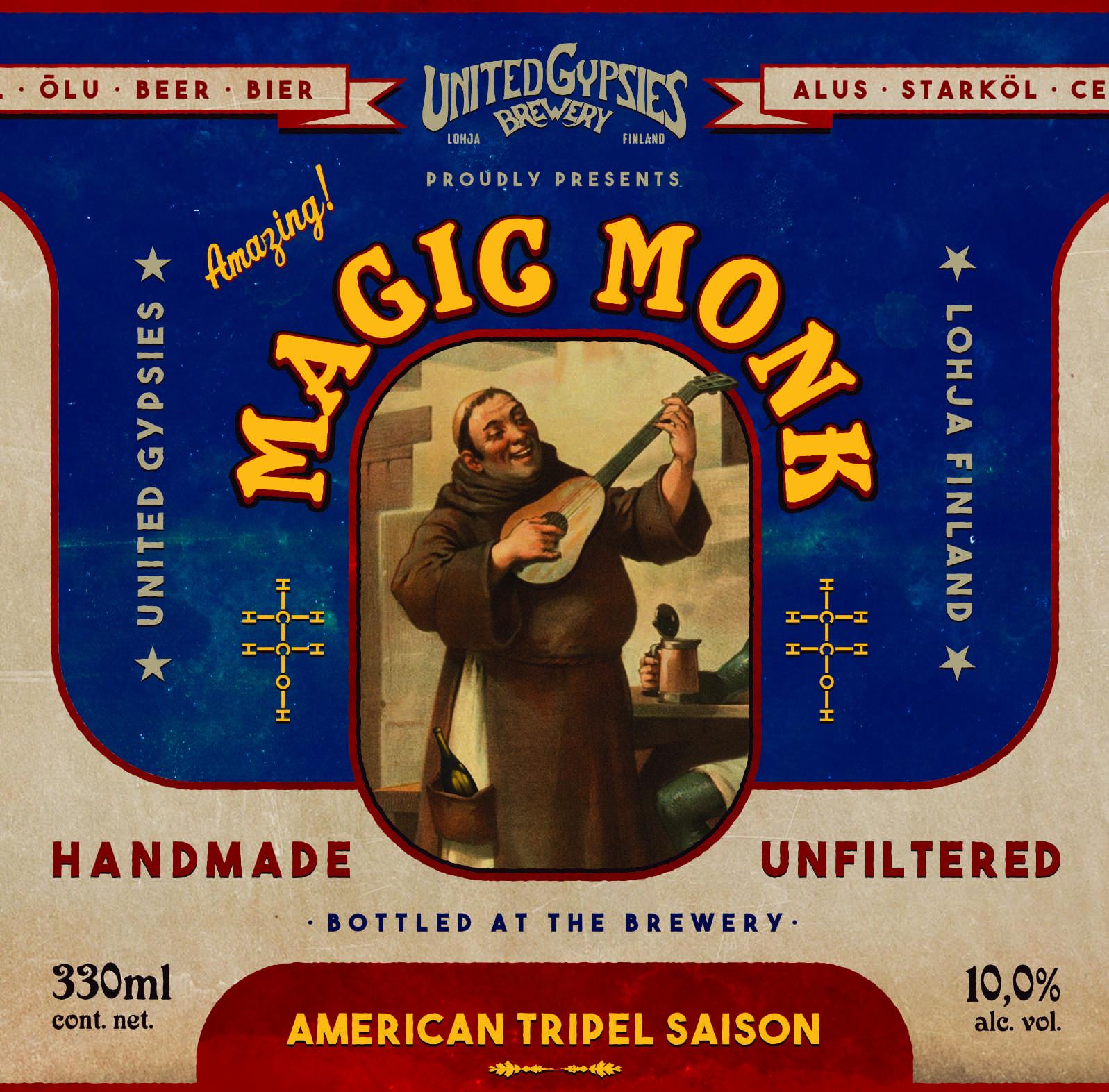 United Gypsies / Magic Monk / 10% / 0,33 Pullo