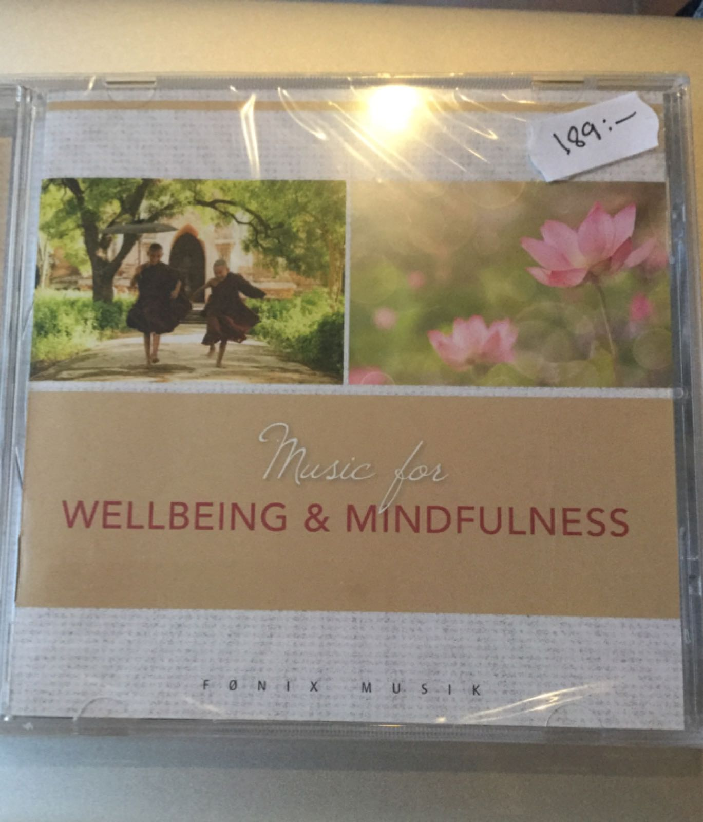 CD Music for wellbeing and mindfulness 189:-