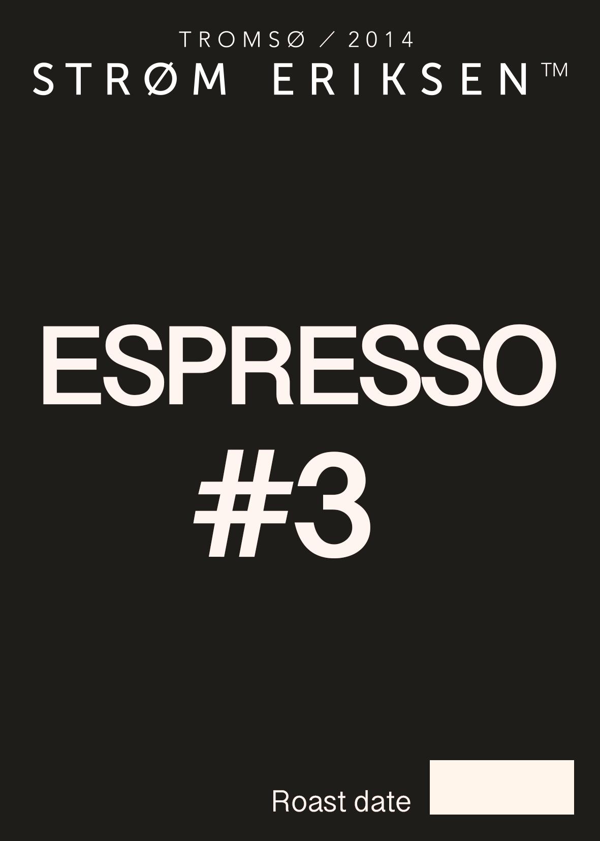 Espresso #3, 250 gram