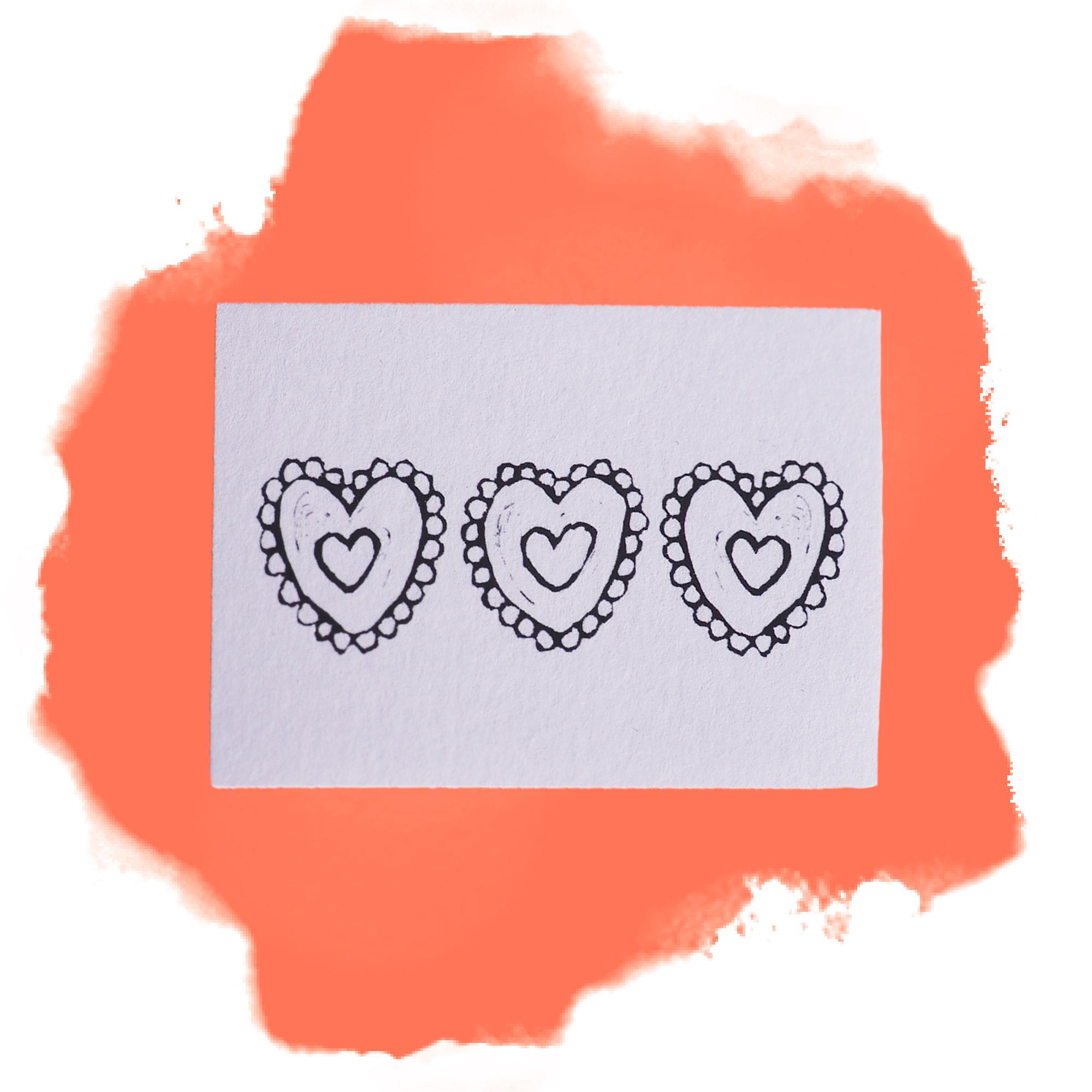 Sydämet -pakettikortti