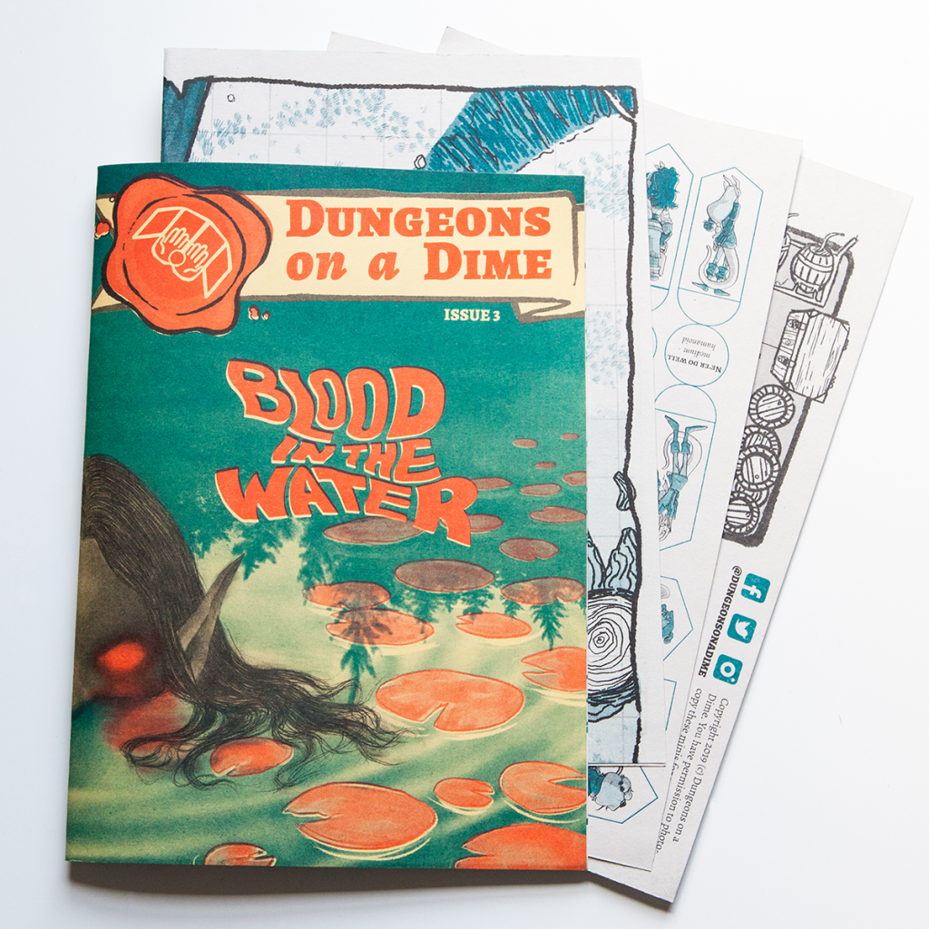 Dungeons on a Dime Issue 3 Blood in The Water -  Dungeons on a Dime
