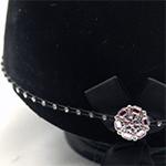 Karoo Equine Pink Kunzite Centre Swarovski Diamante Elastic Hat Band